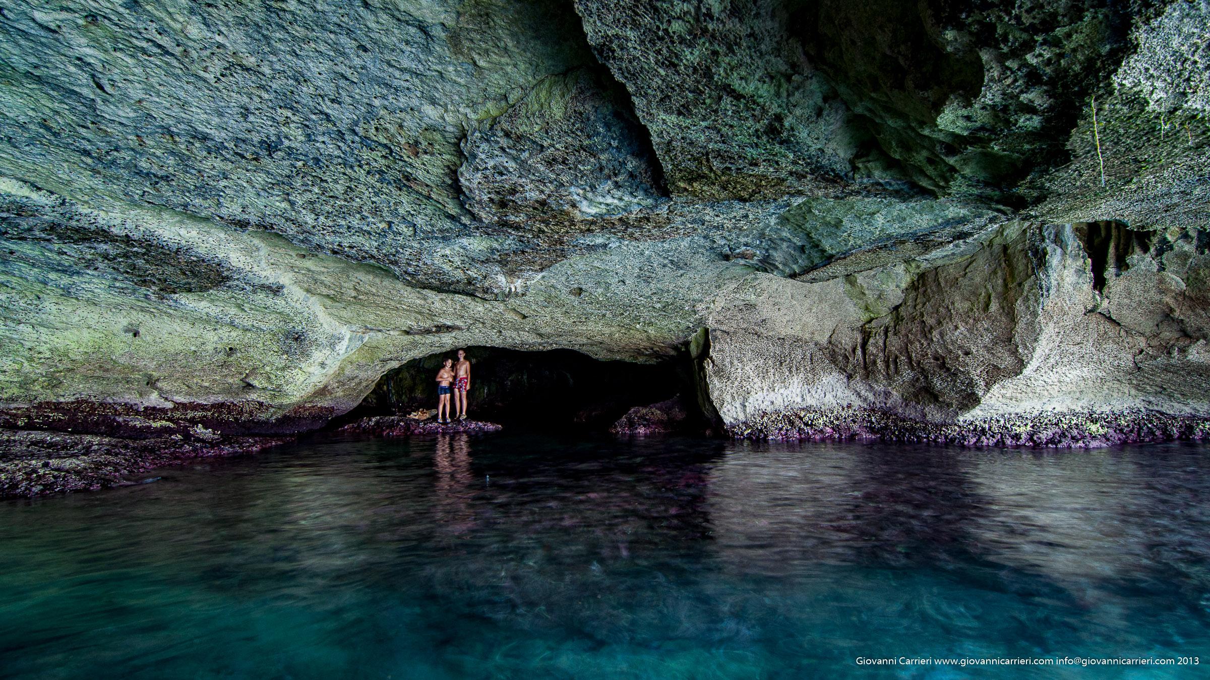 Grotta verde - Marina di Andrano vista esterna