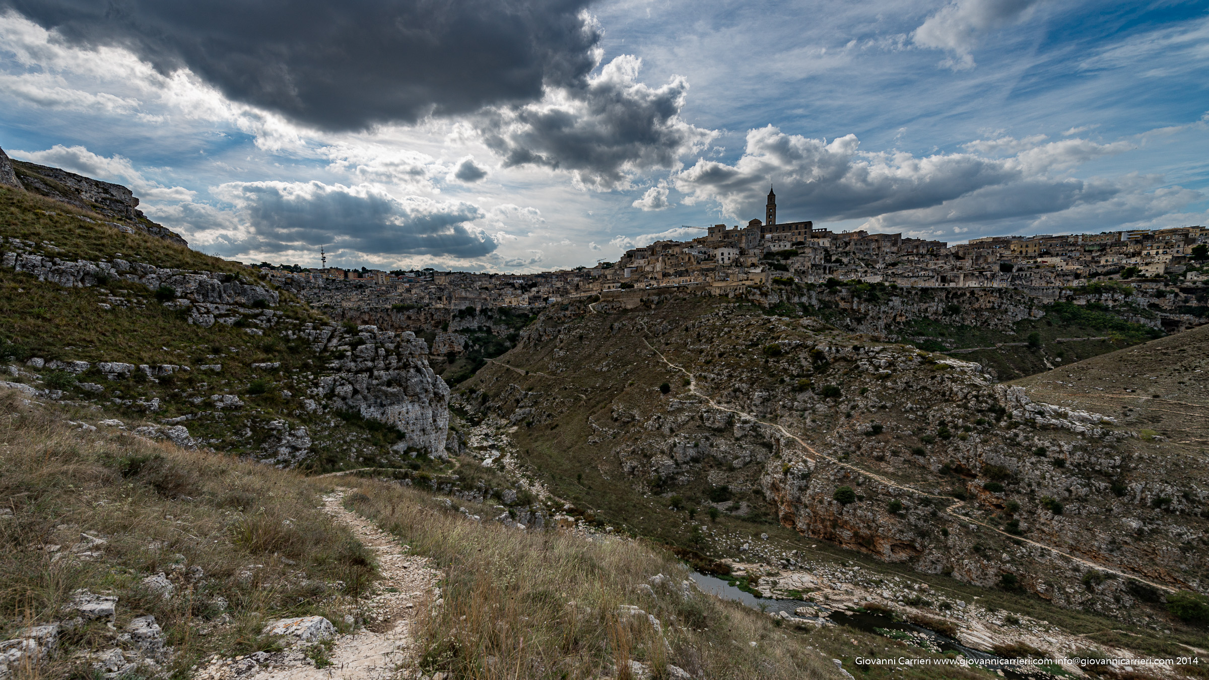 The city and the ravine of Matera
