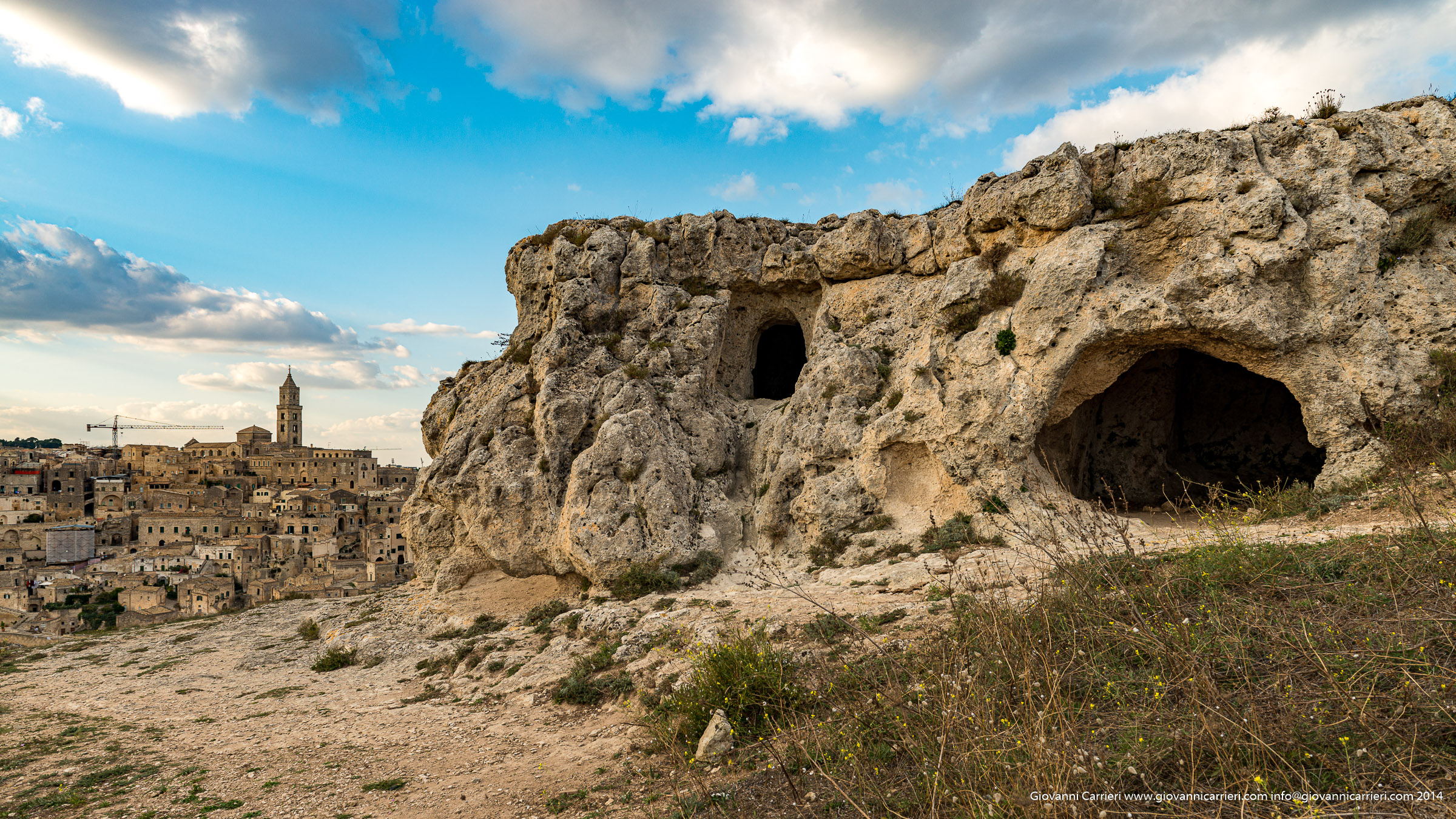 Matera and the caves of the ravine