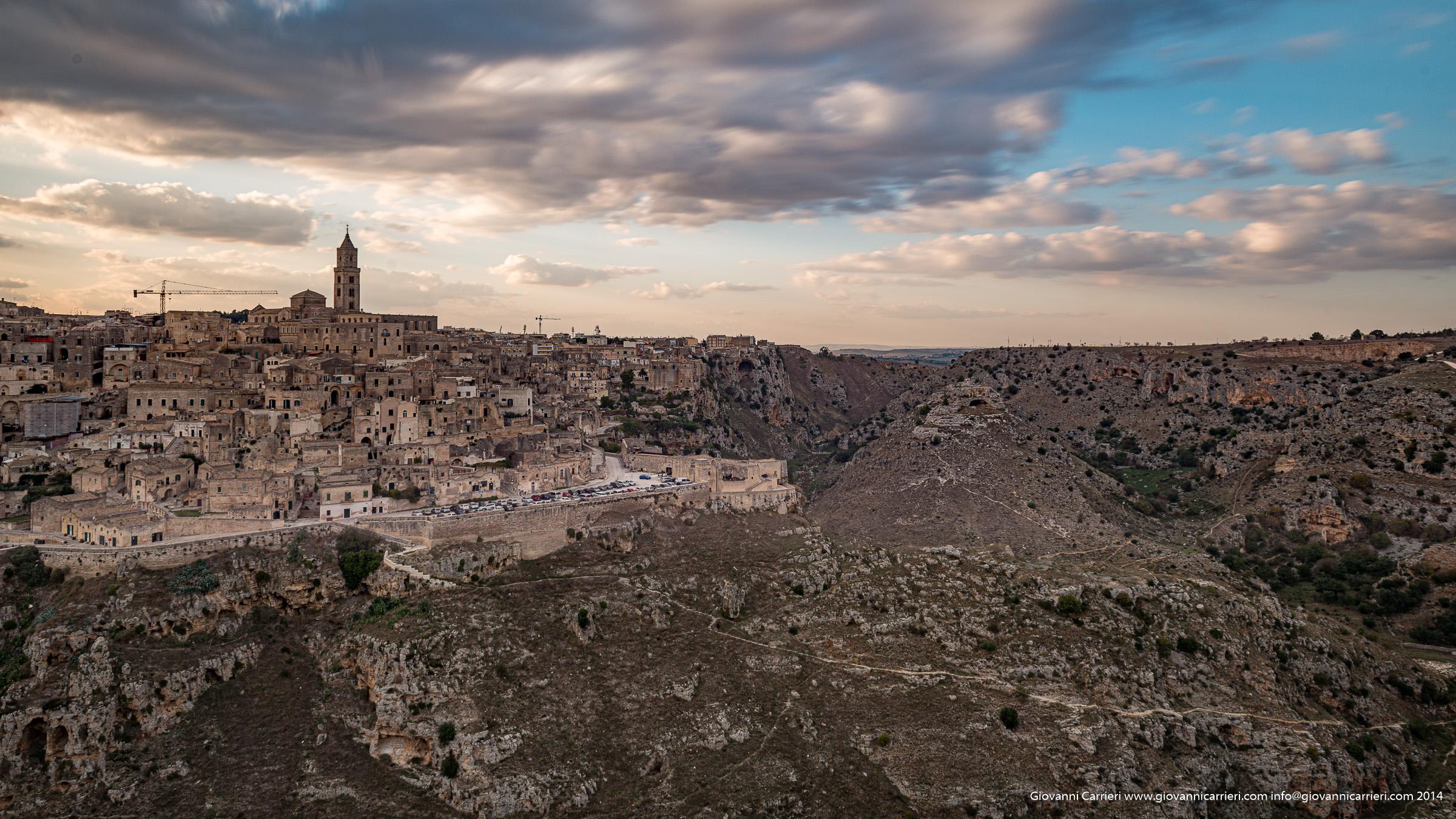 Il tramonto su Matera