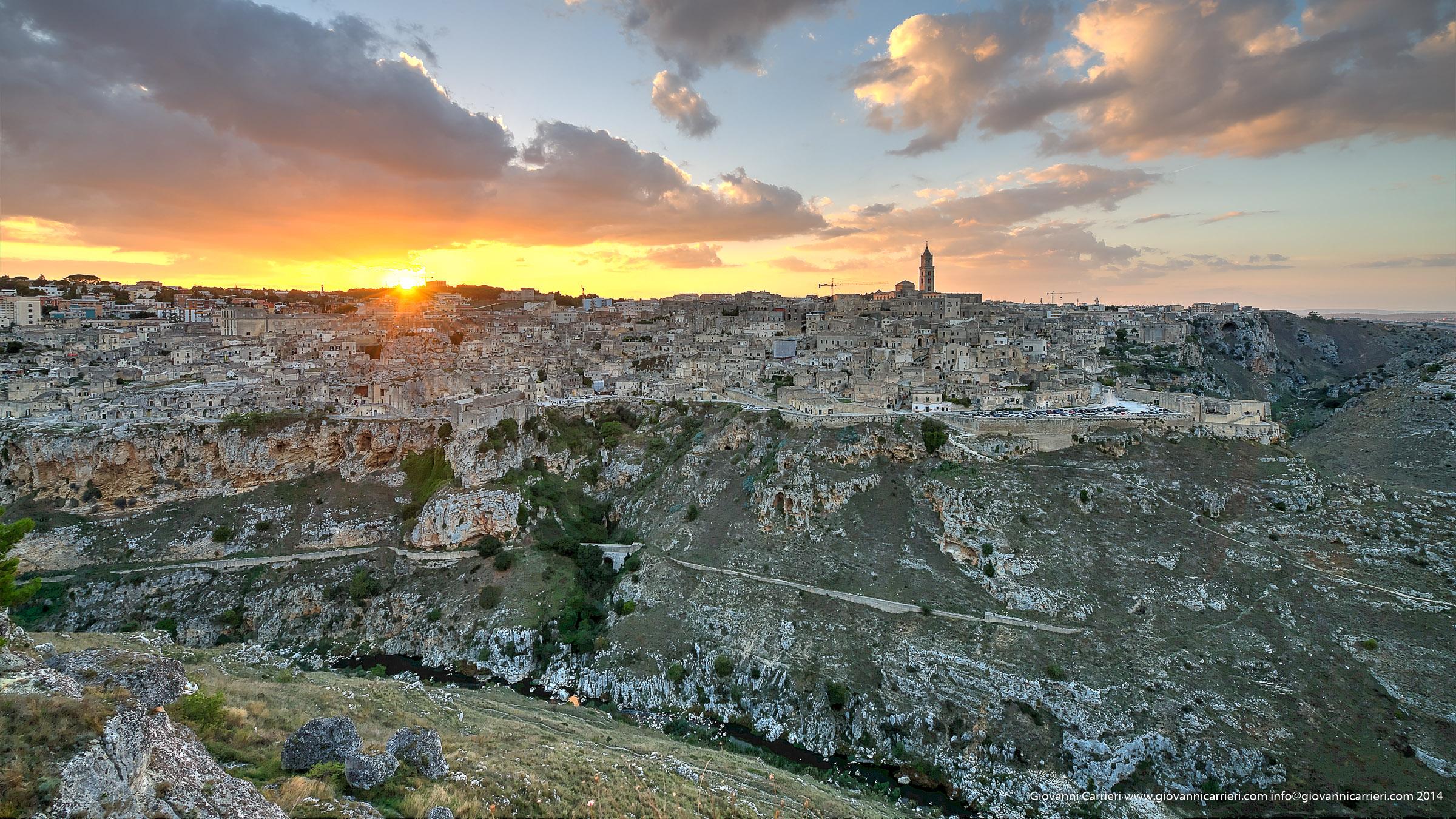 Il tramonto sui Sassi di Matera