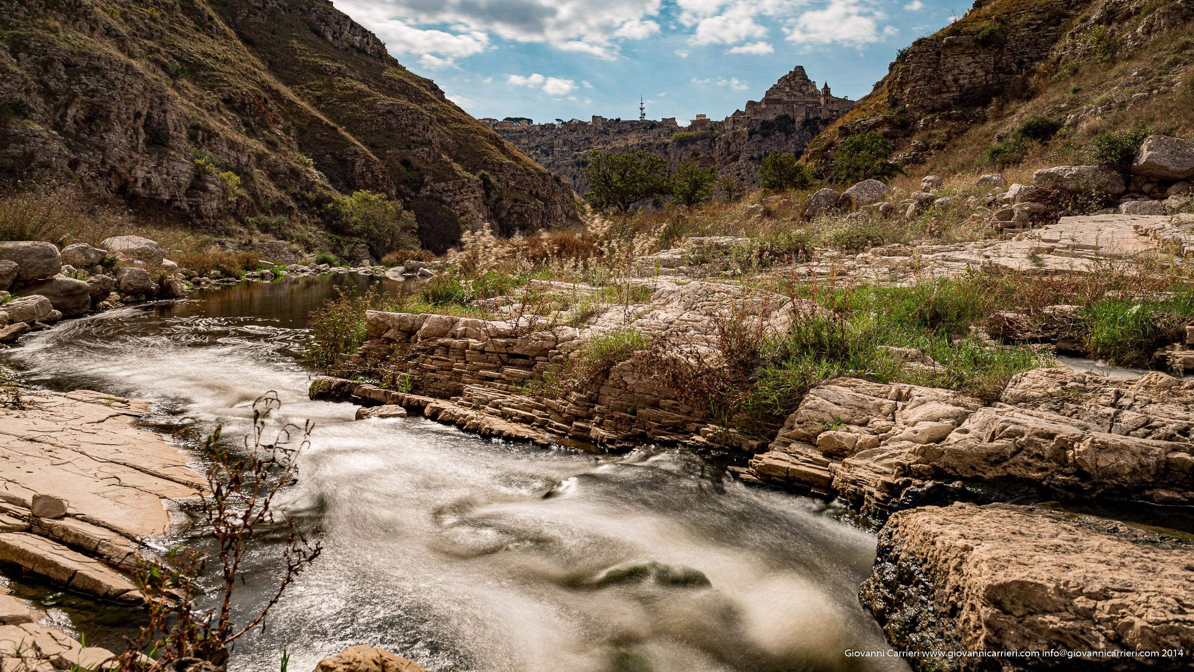il torrente Gravina - Matera