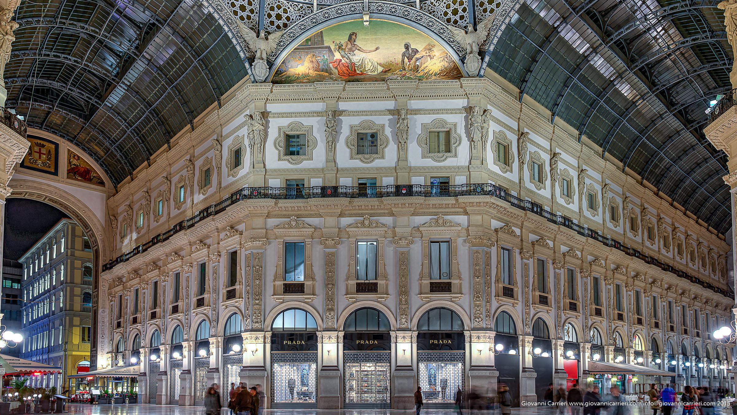 La galleria Vittorio Emanuele II - Milano