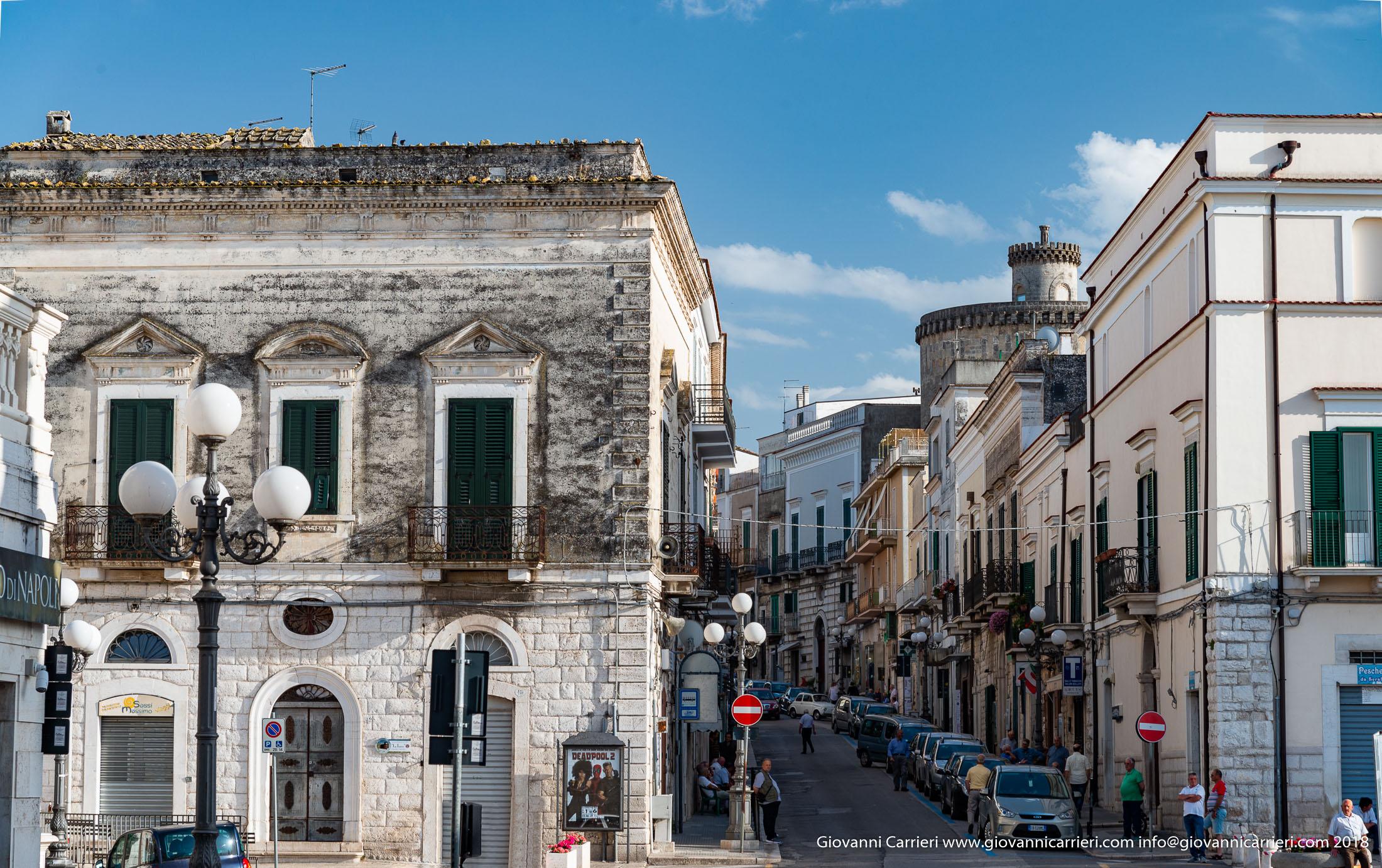 Matteotti street in Minervino Murge