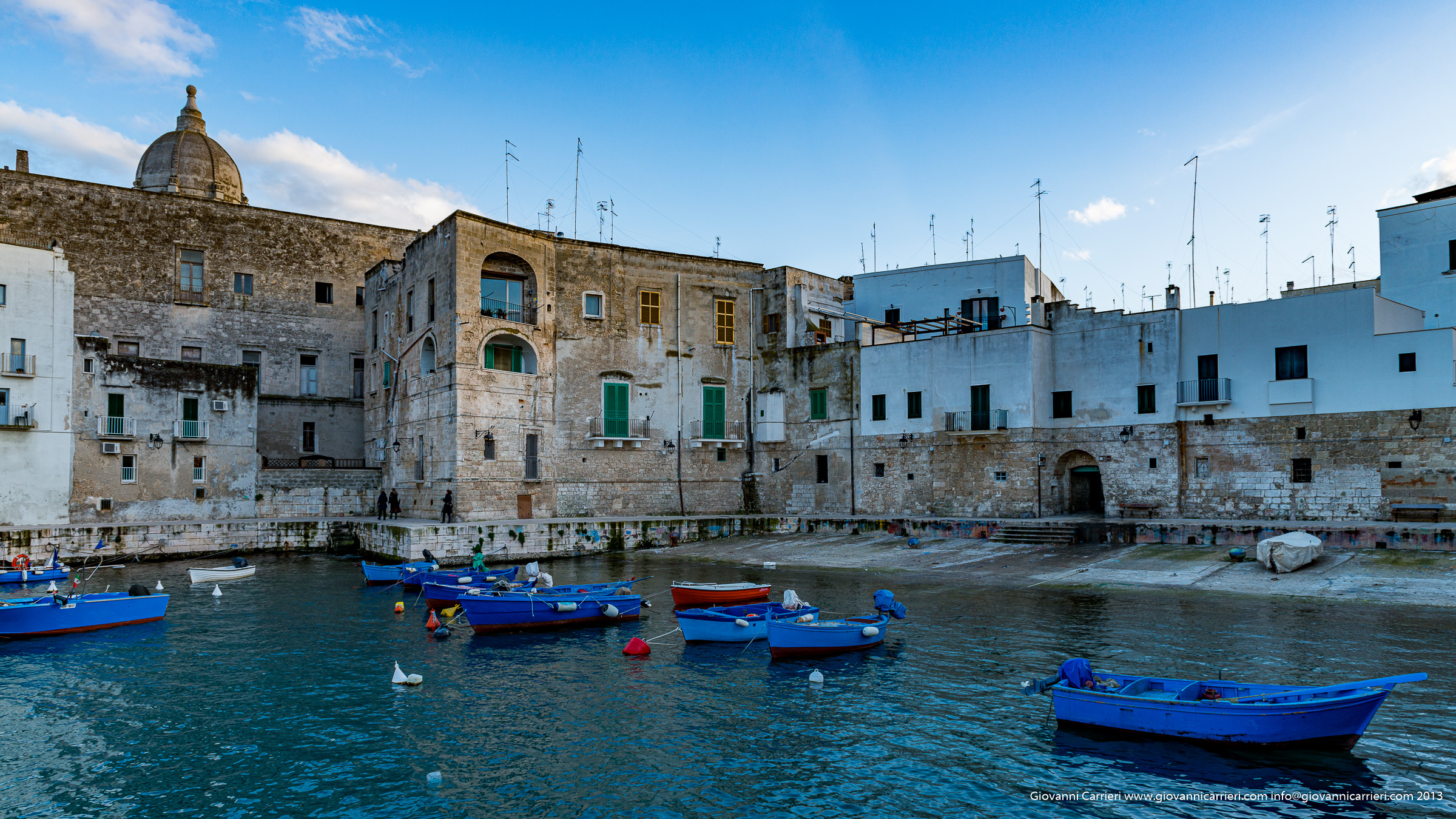 A view at the harbor of Monopoli