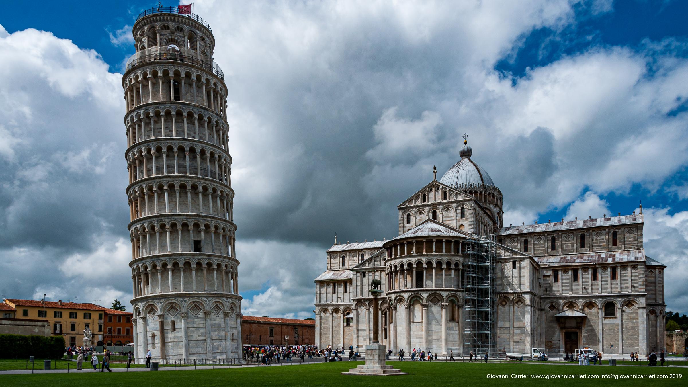 Il campanile - Torre pendente, Piazza dei Miracoli Pisa