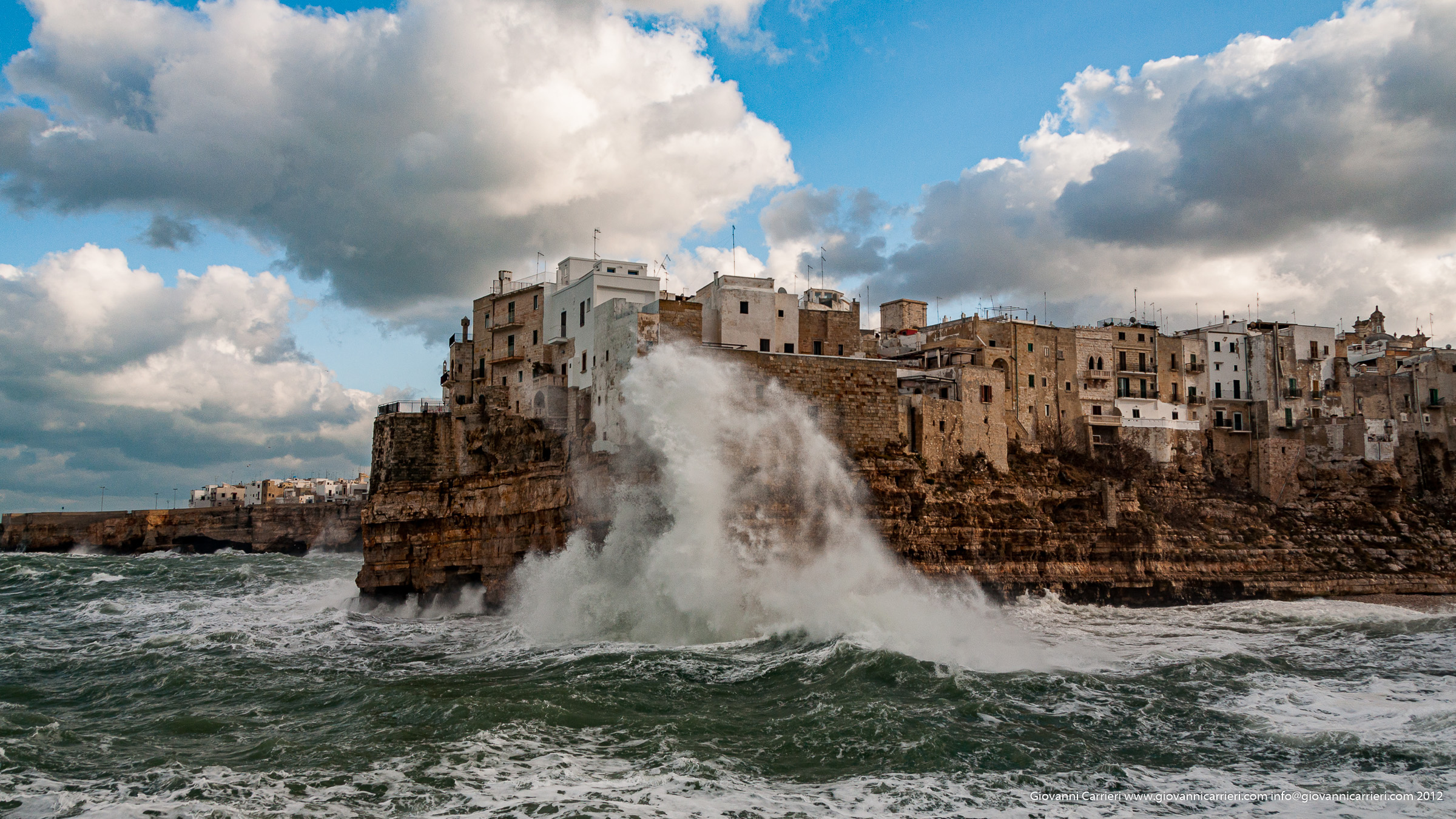 Storm on Polignano a Mare
