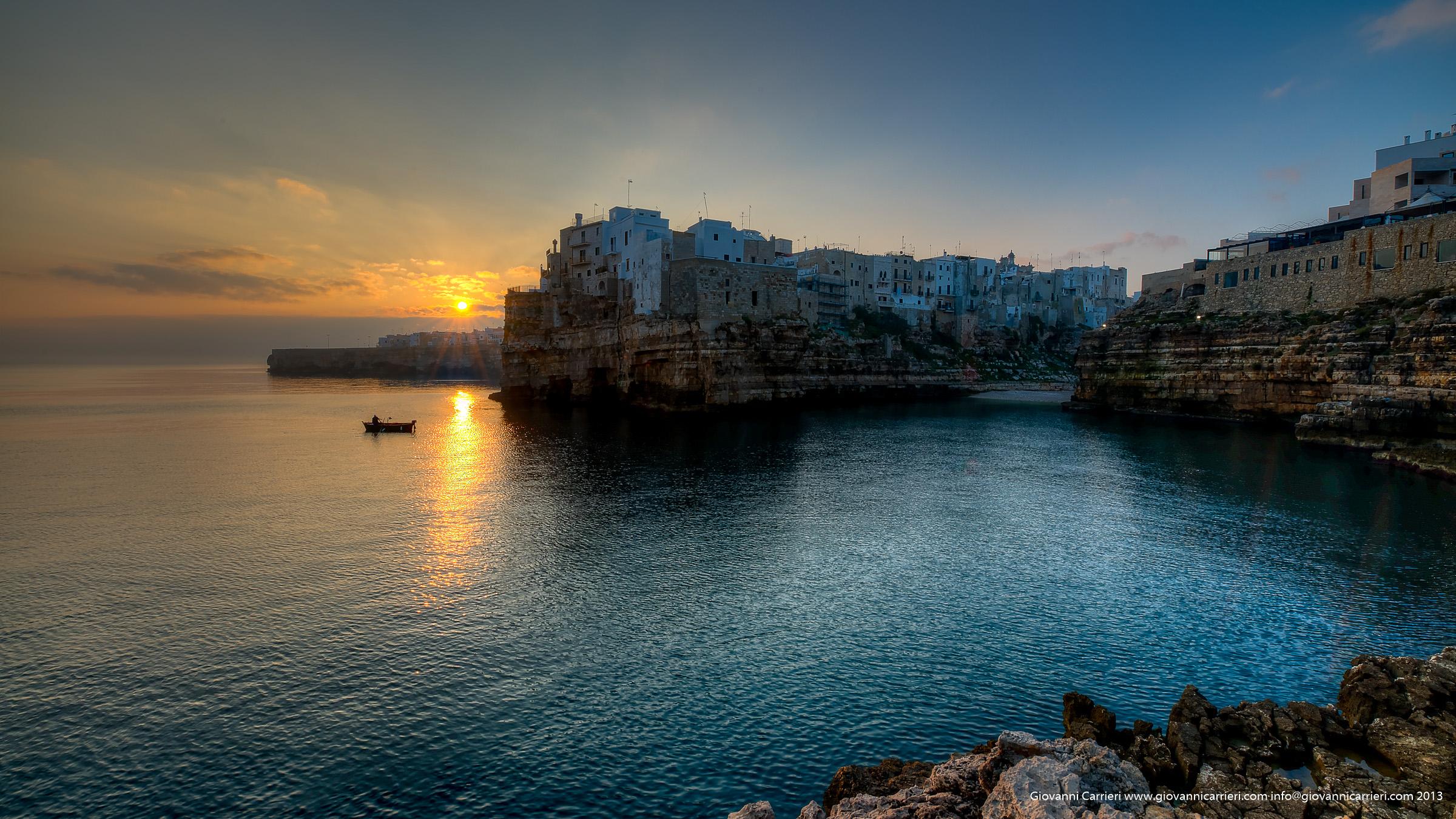 Newly risen sun - Polignano a Mare