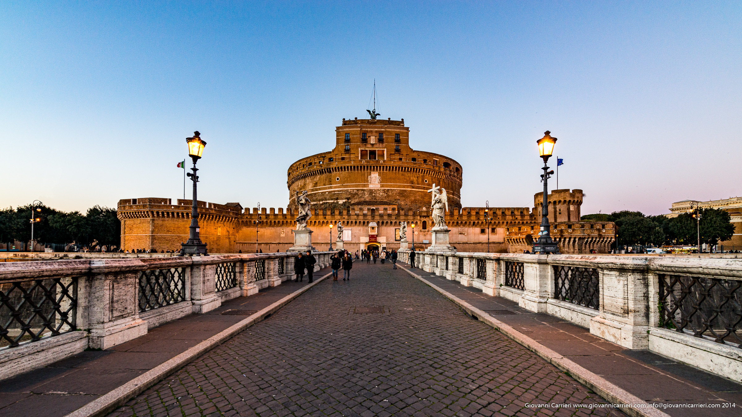 Castel Sant'Angelo seen from the bridge of the same name