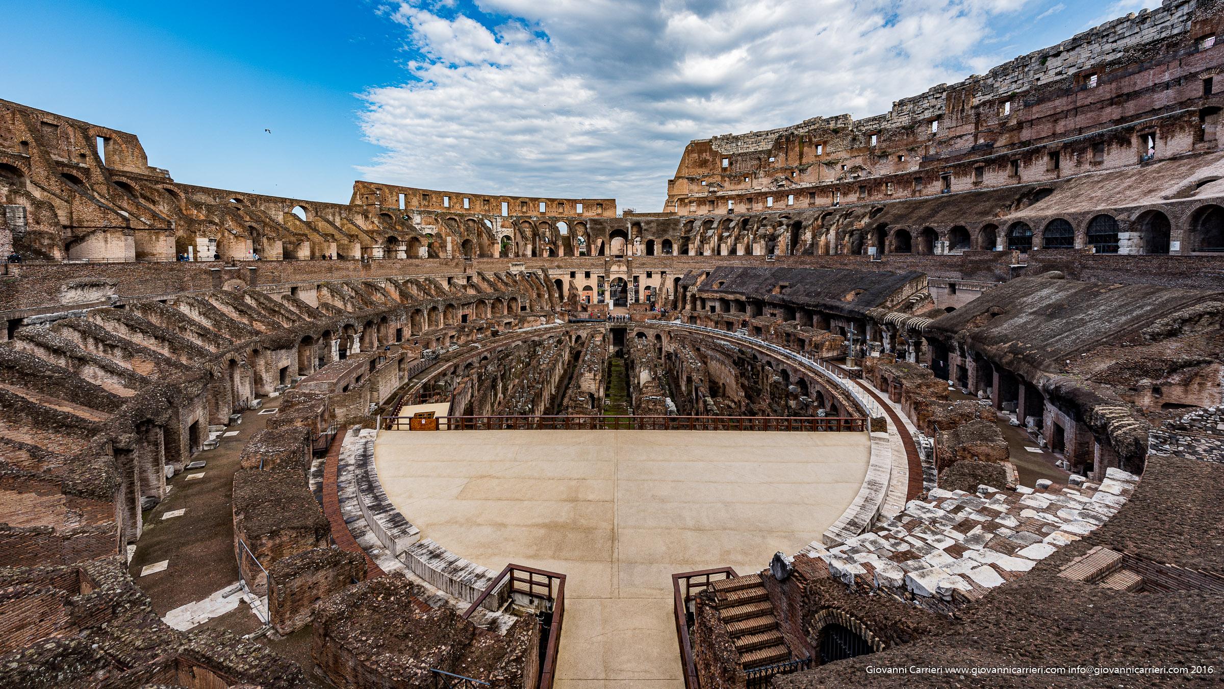 Vista interna del Colosseo, Anfiteatro Flavio