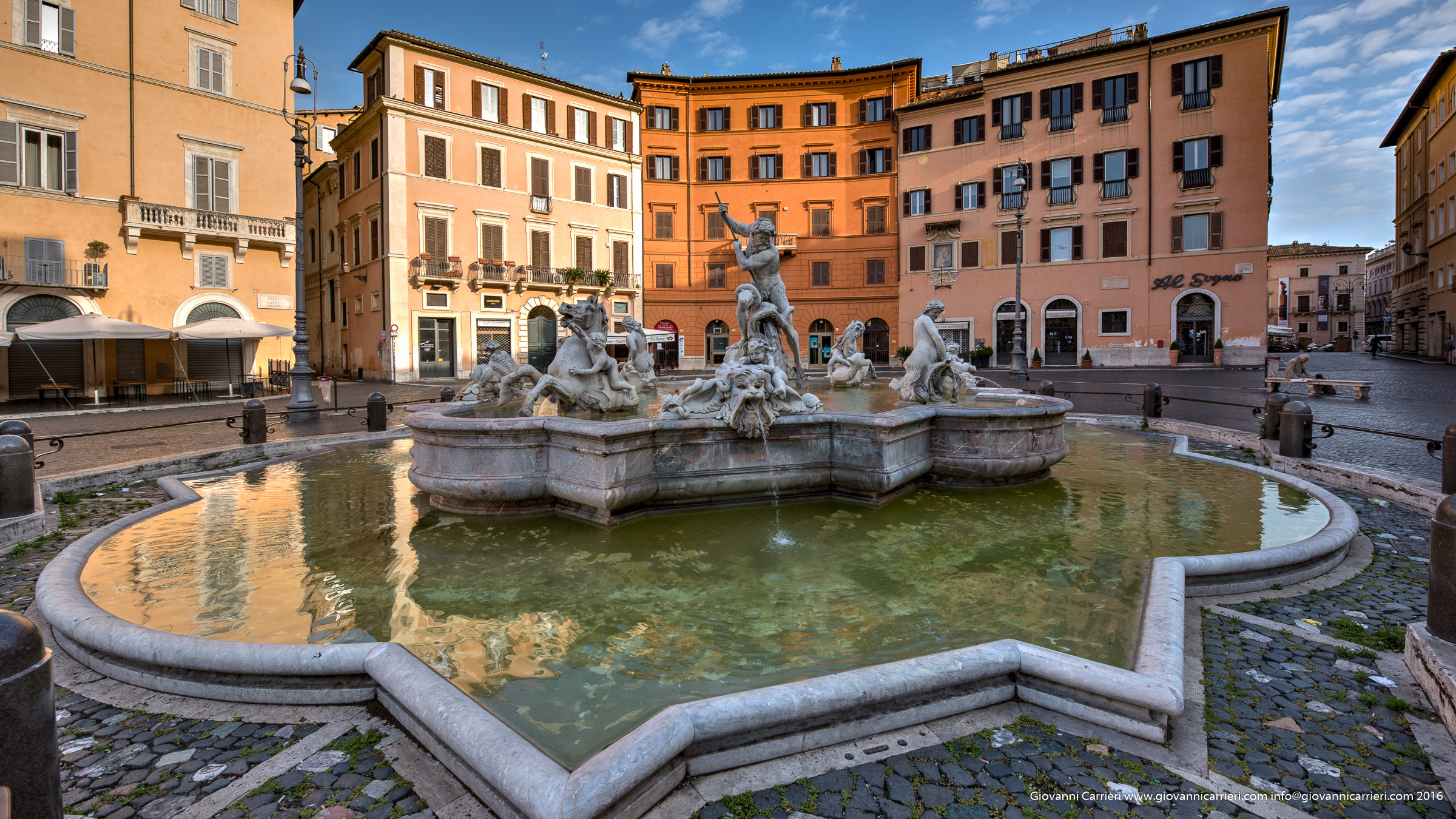 Neptune fountain in Piazza Navona