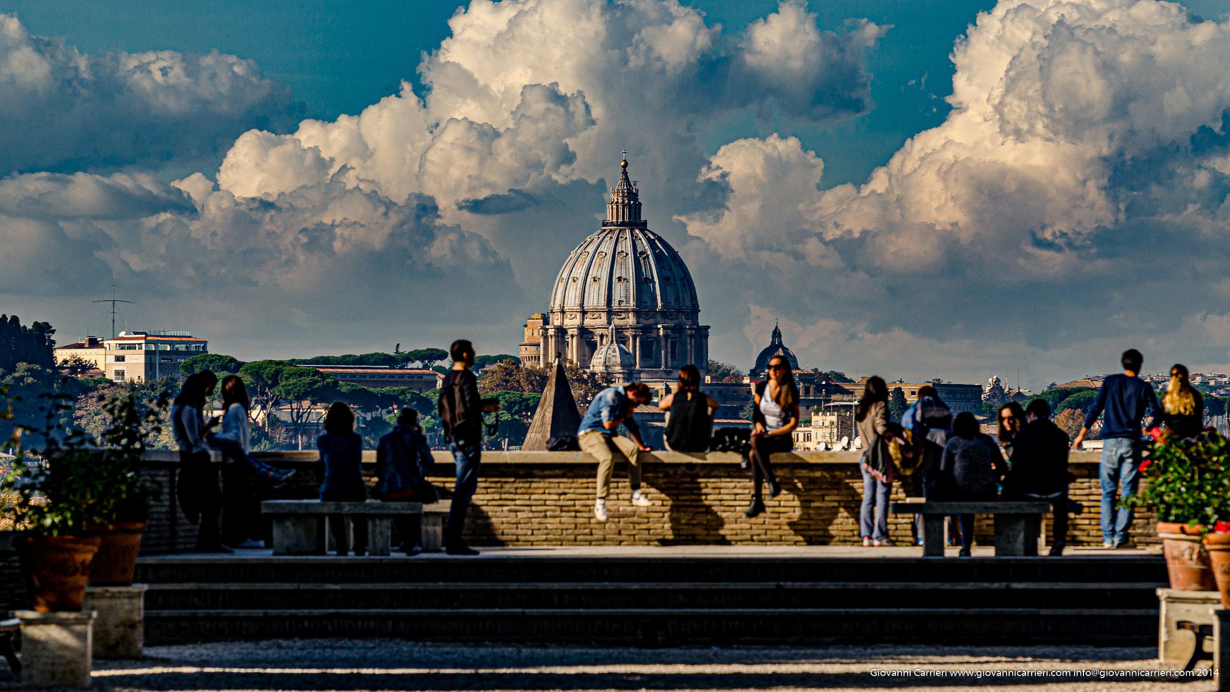 The orange garden and its panoramic view, Aventino - Rome