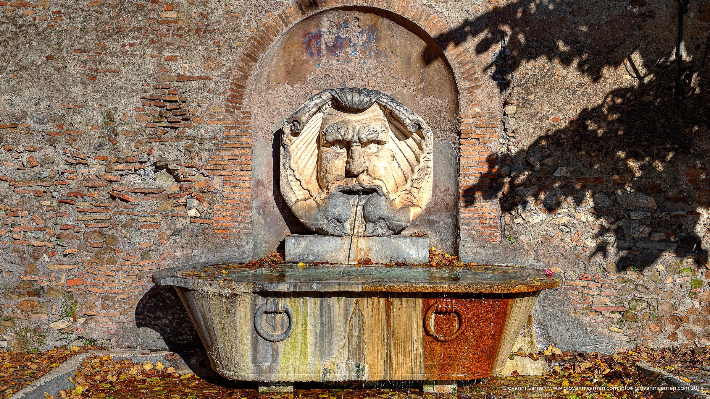 La fontana del Giardino degli Aranci, anche detto Parco Savello