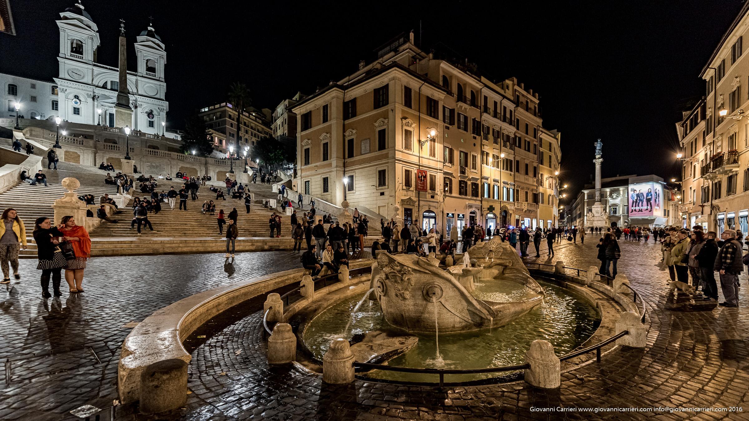 Spanish Steps, La Barcaccia and Trinità de Monti