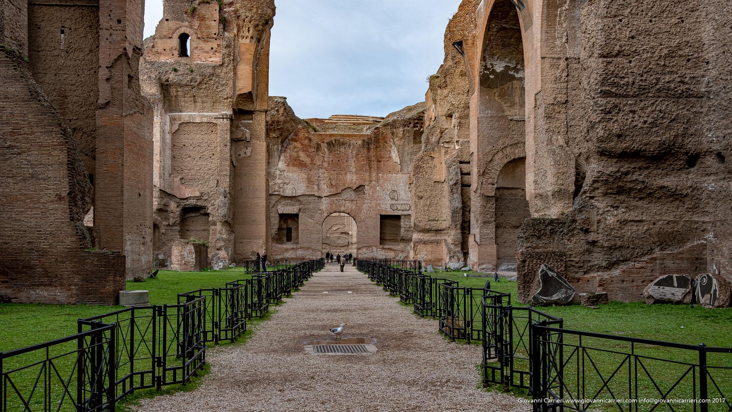 Vista interna delle Terme di Caracalla - Roma