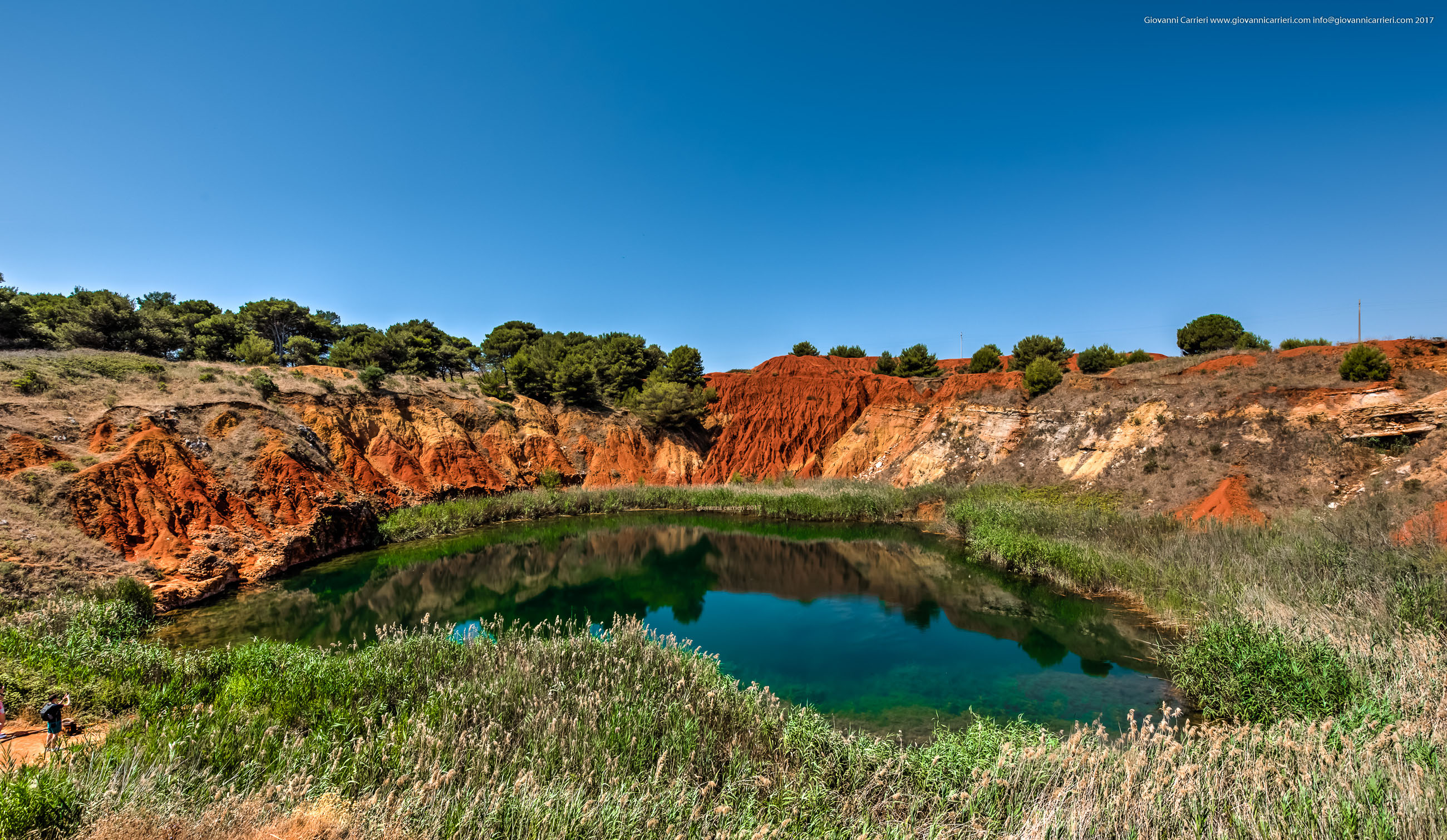La cava di bauxite nei pressi di Otranto