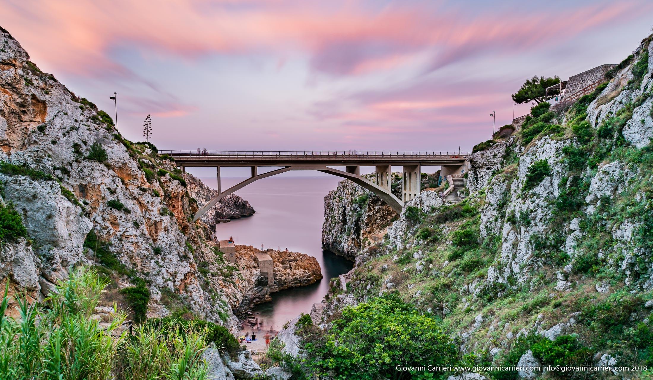 Il ponte Ciolo al tramonto