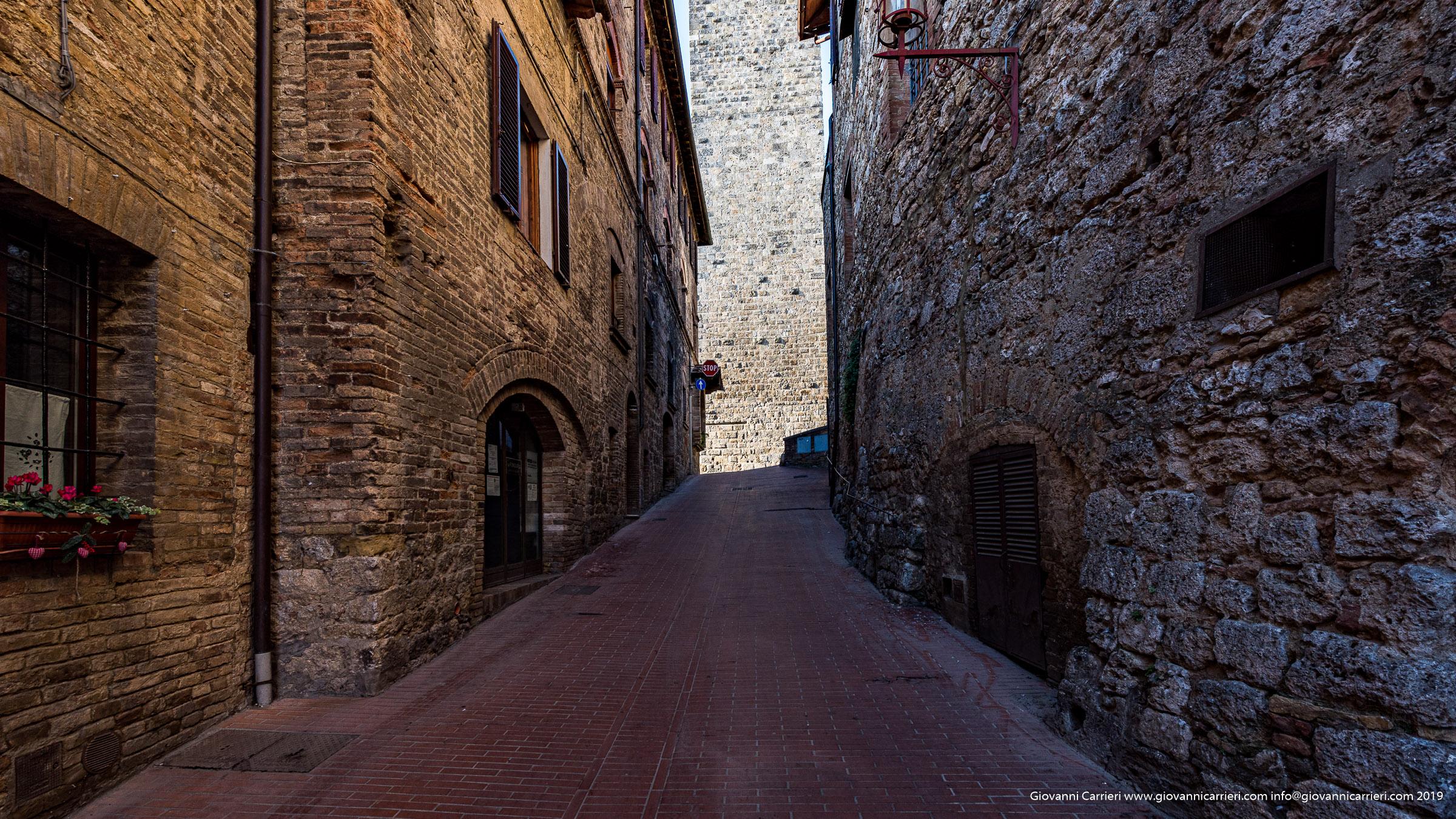 Il caratteristico centro storico di San Gimignano