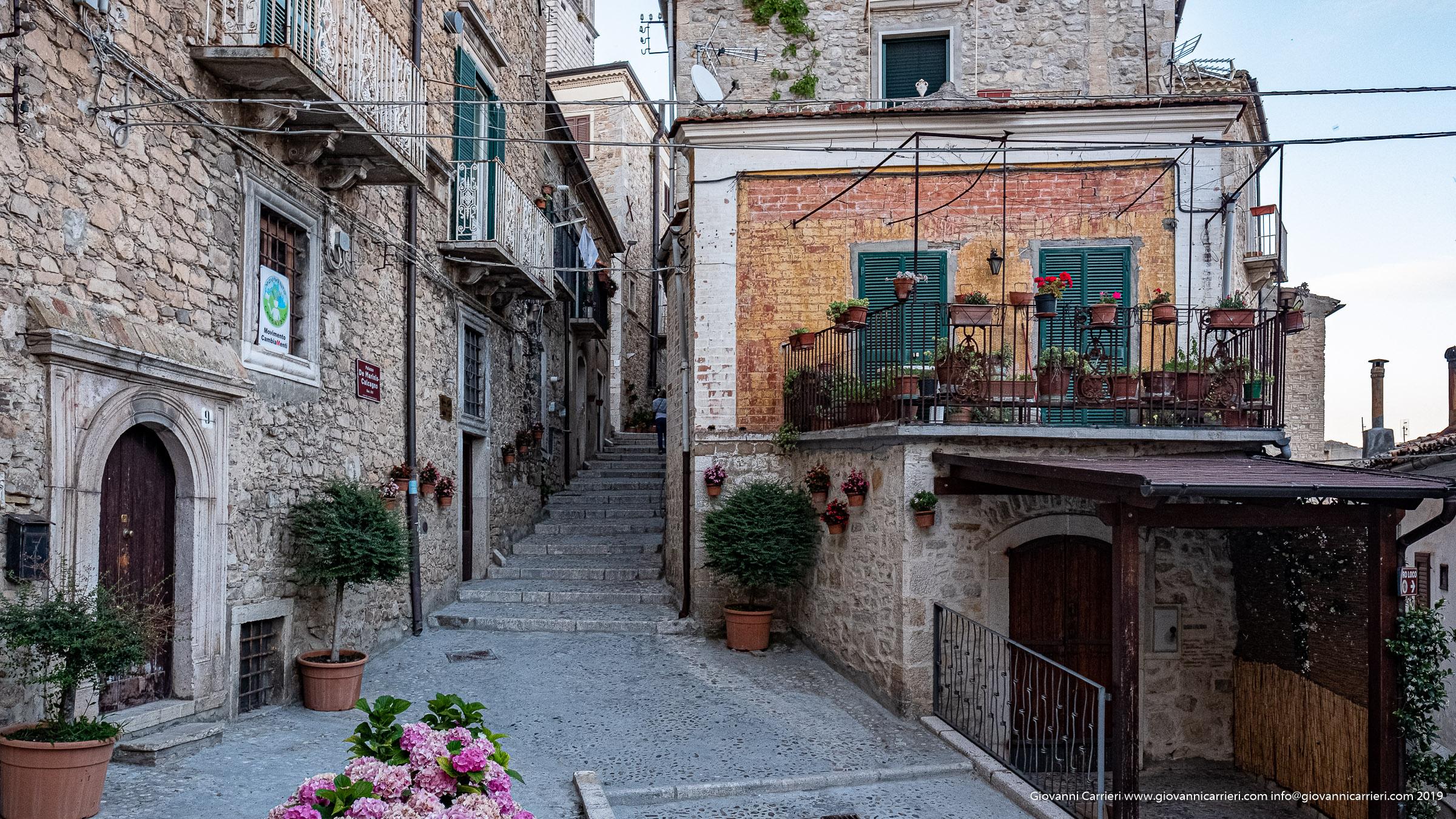 The ancient town of Sant'Agata di Puglia