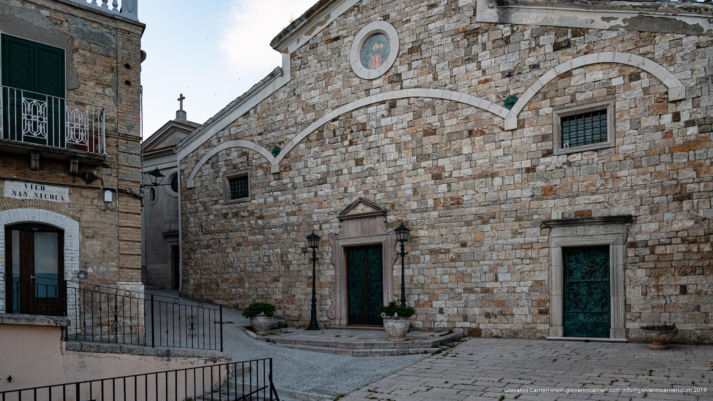 The facade of the mother church of Sant'Agata di Puglia