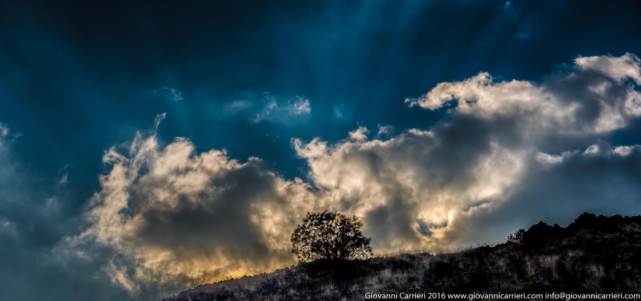 Un tramonto alle pendici dell'Etna
