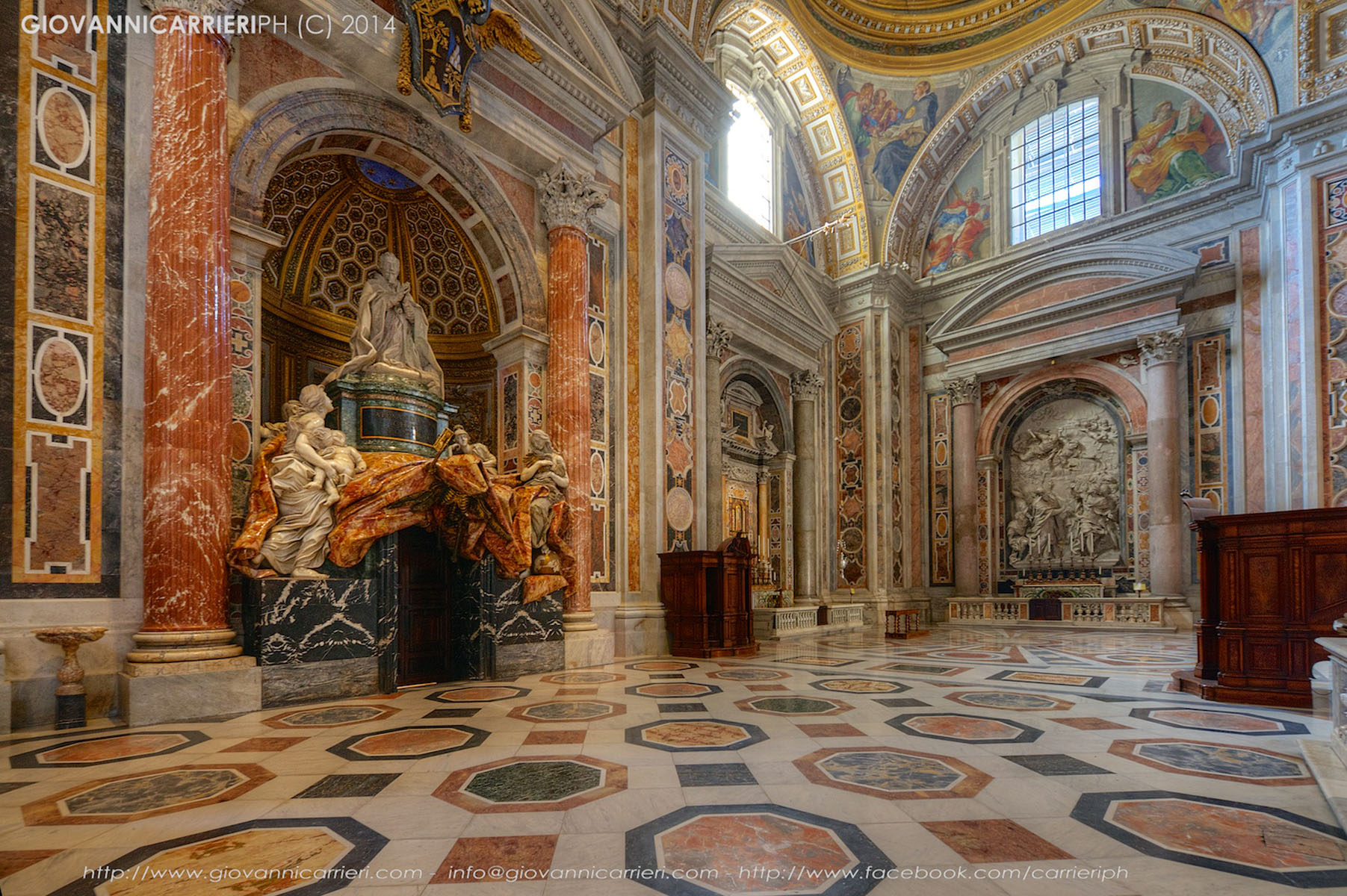 La tomba di Papa Alessandro VII in San Pietro
