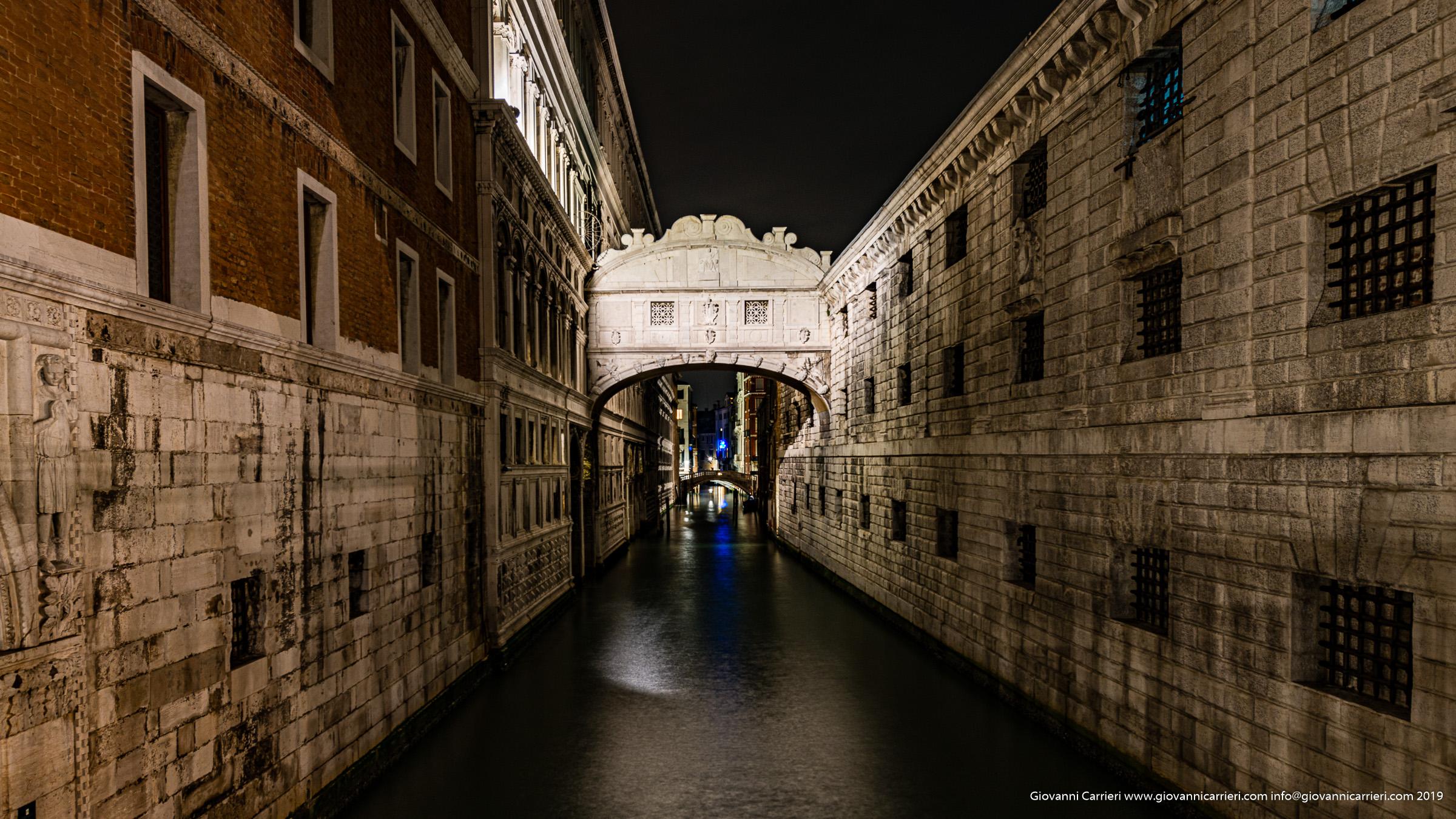 Il Ponte dei Sospiri - vista notturna Venezia