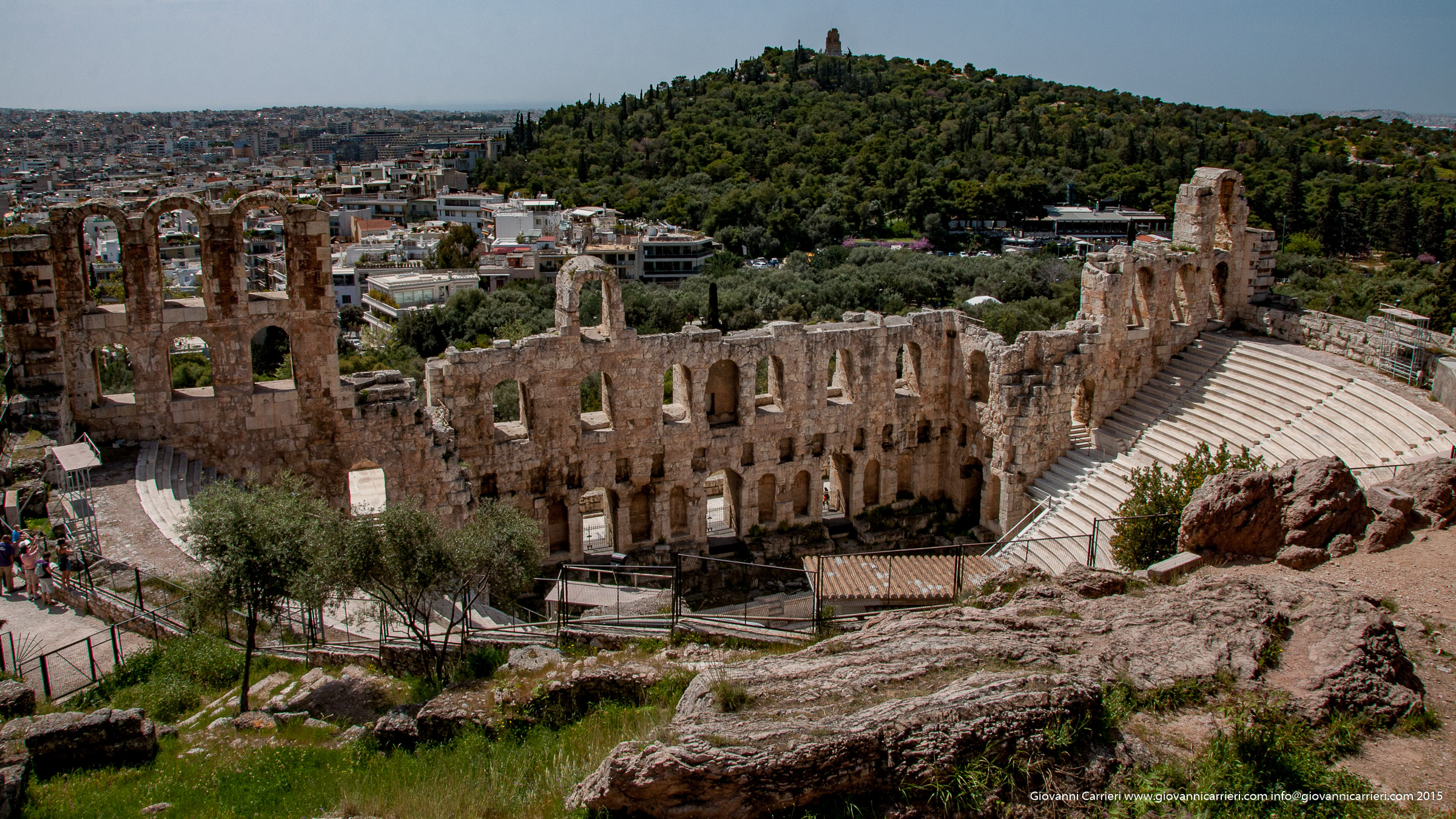 The theater of Herodes Atticus Odeon in Athens