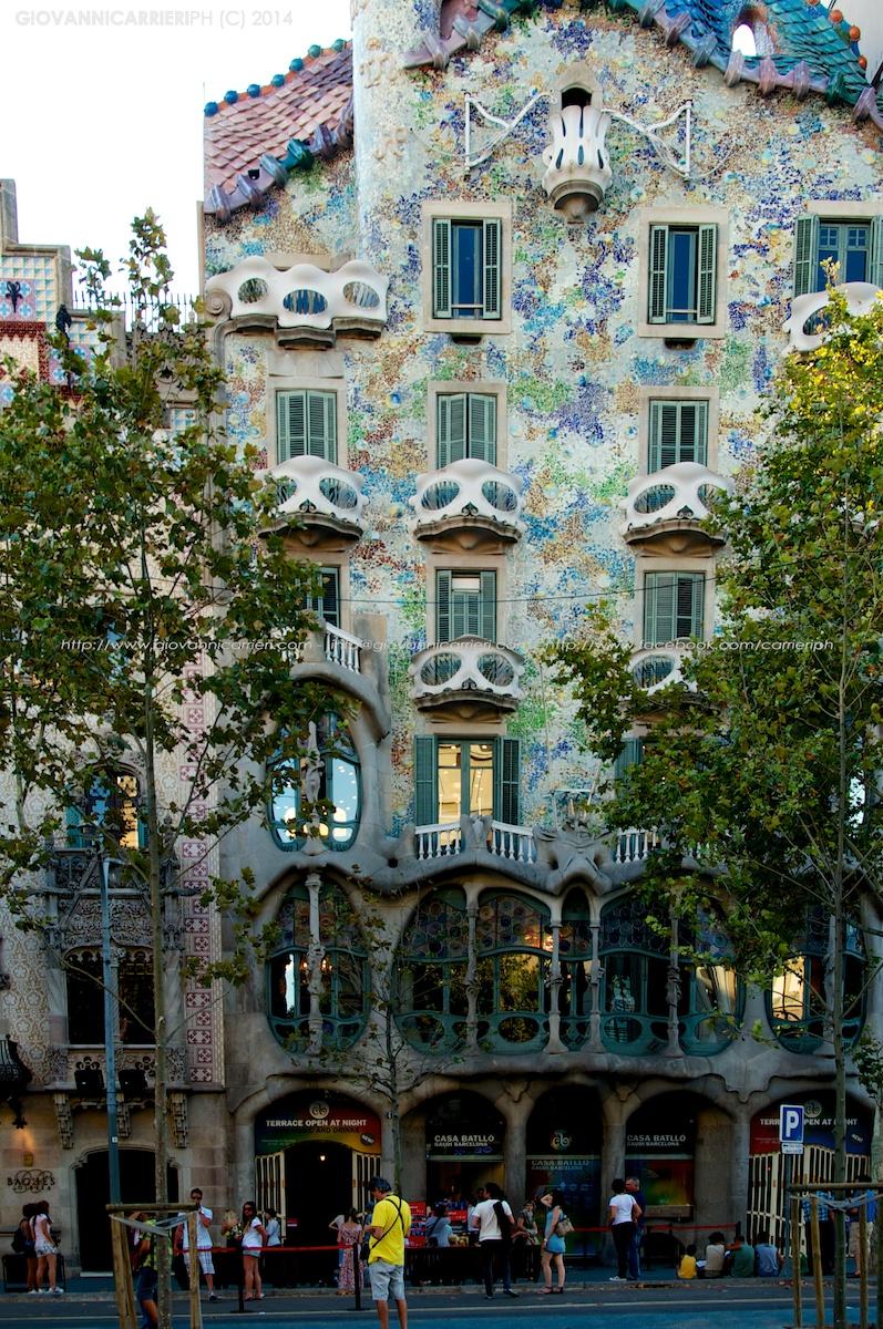 Casa Batlló vista dalla strada