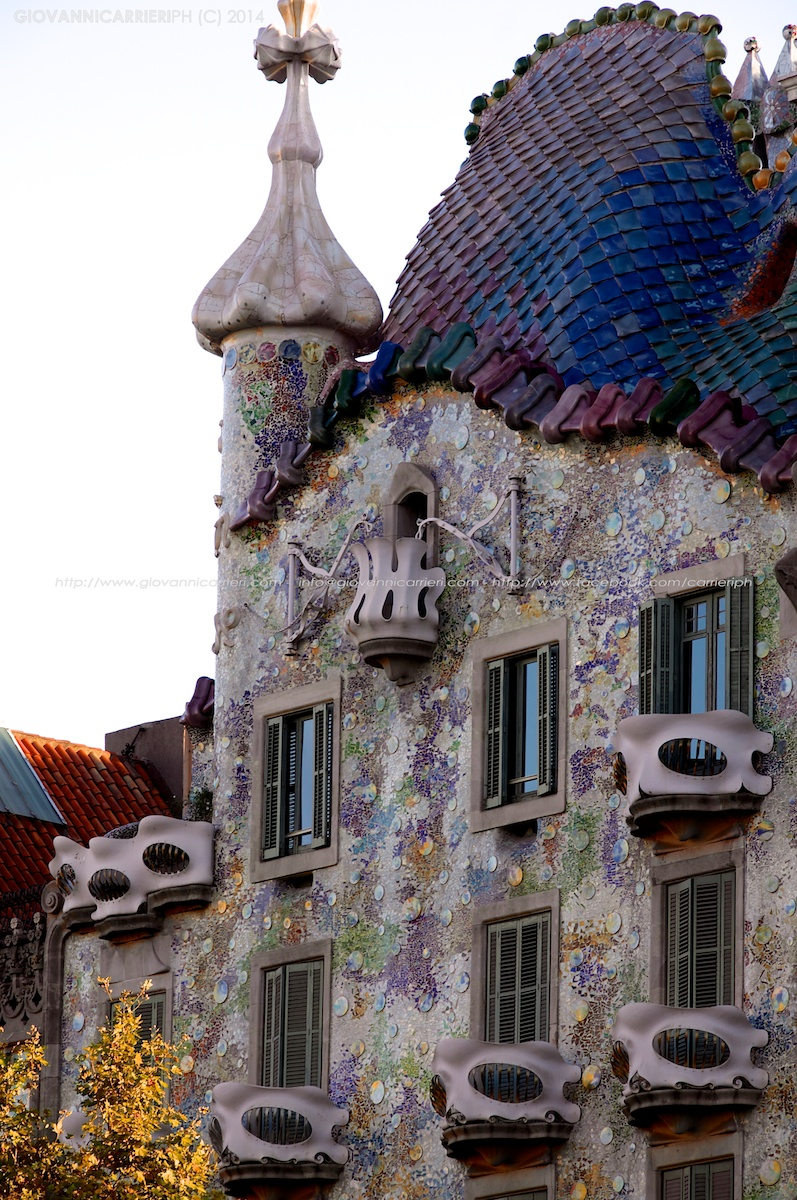 Vista esterna di Casa Batlló - Barcelona