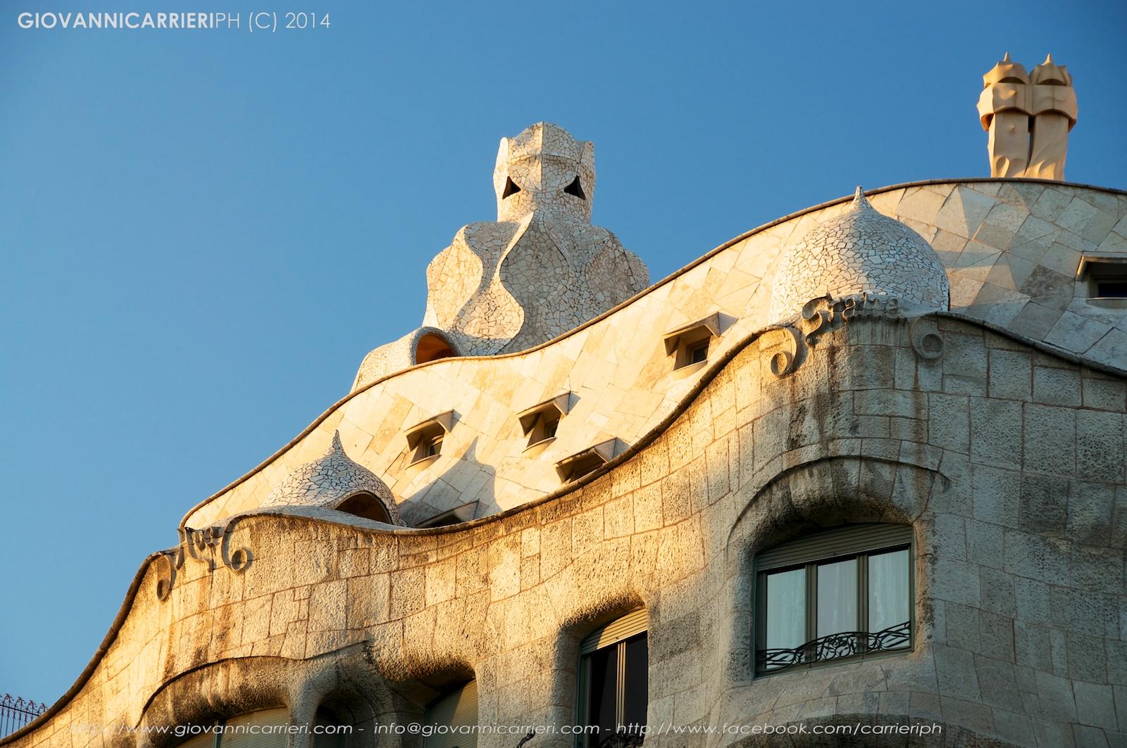 Particolare di Casa Milà - Barcellona