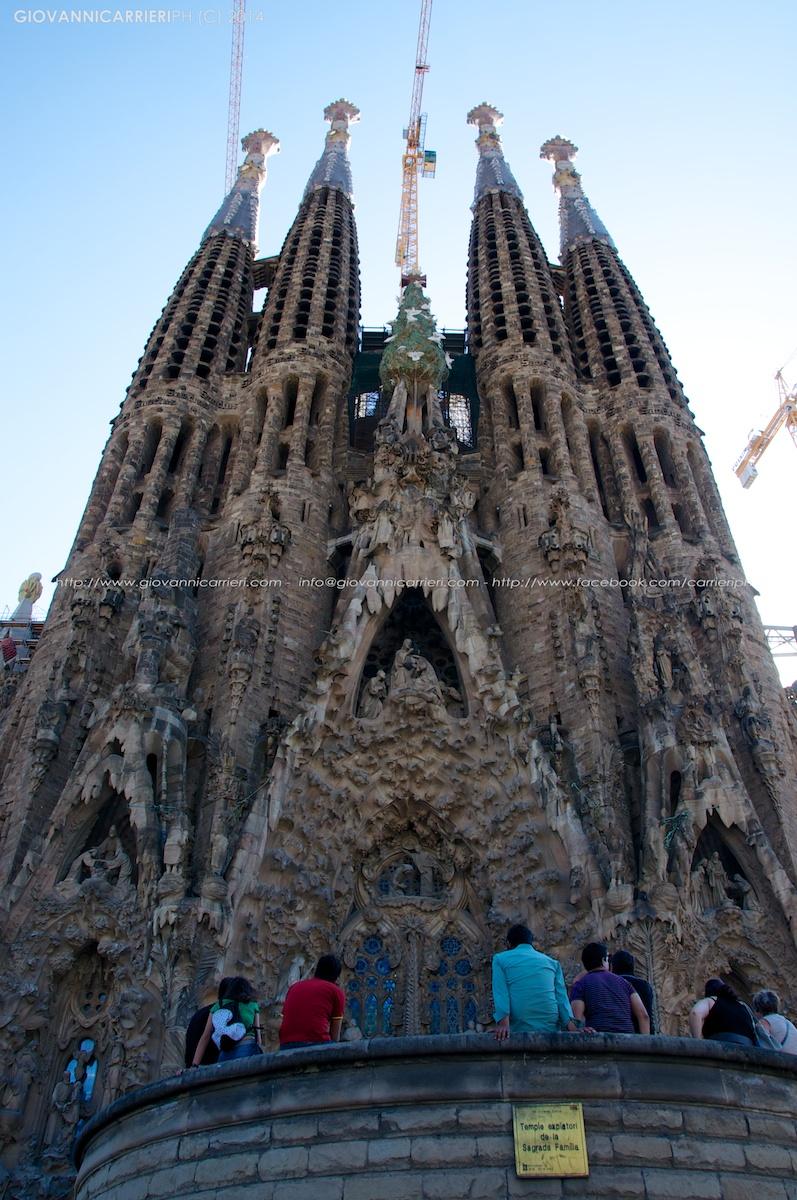 La Sagrada Familia dell'architetto Antoni Gaudí