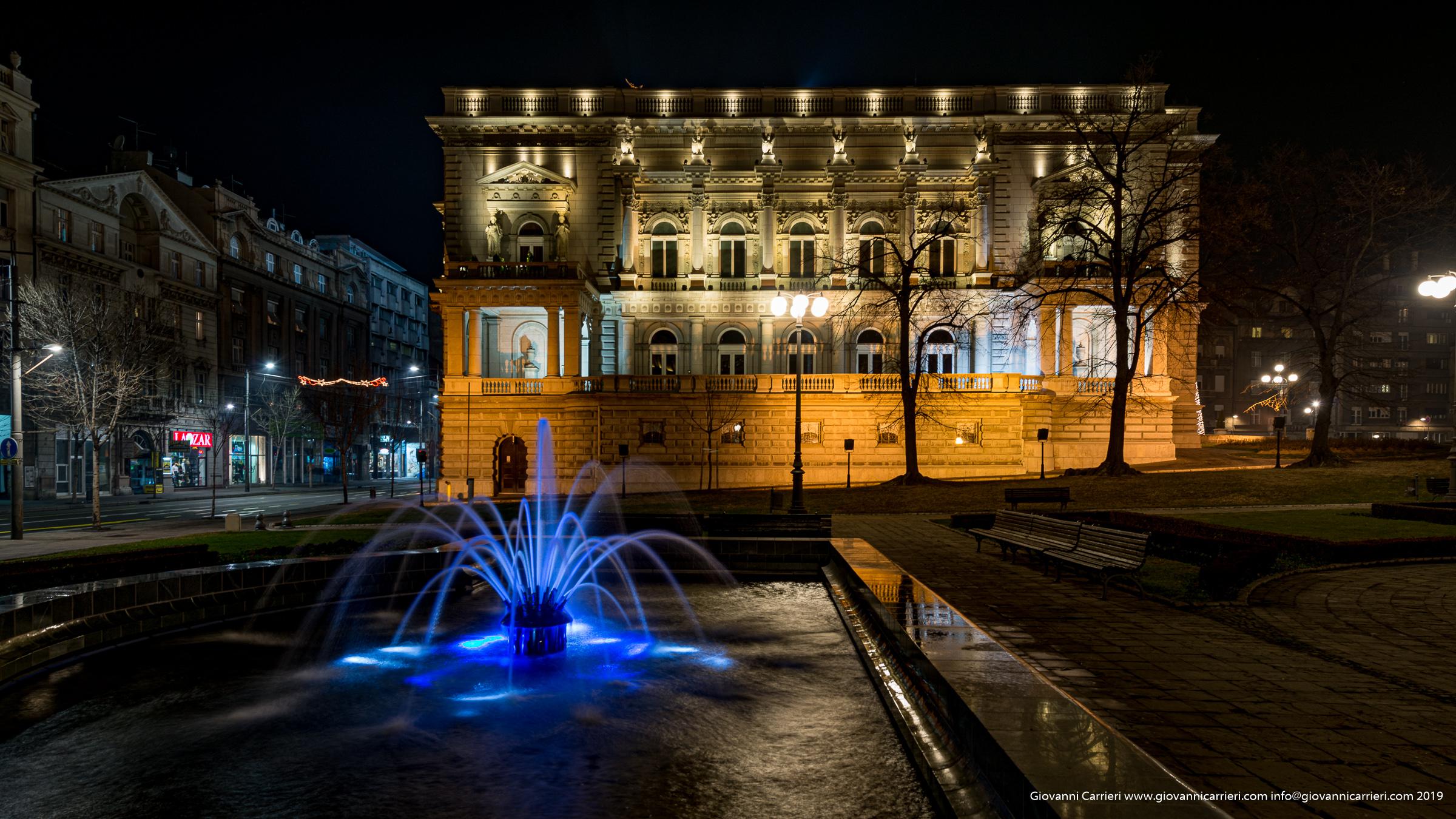 il giardino della casa comunale di Belgrado
