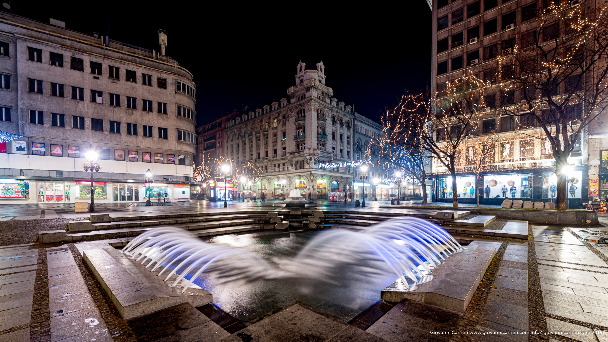 il centro cittadino di Belgrado