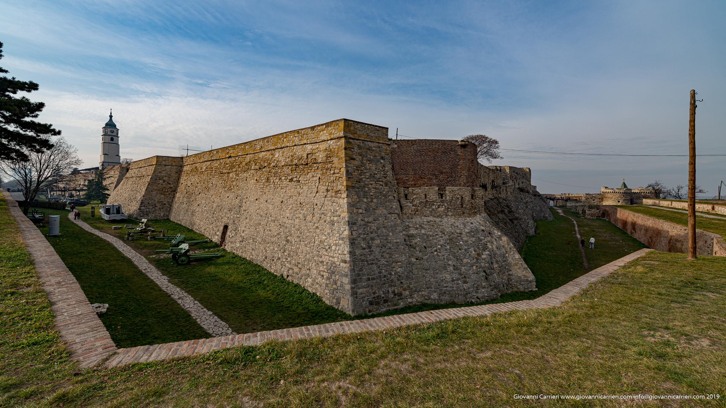 dentro la fortezza Kalemegdan di Belgrado
