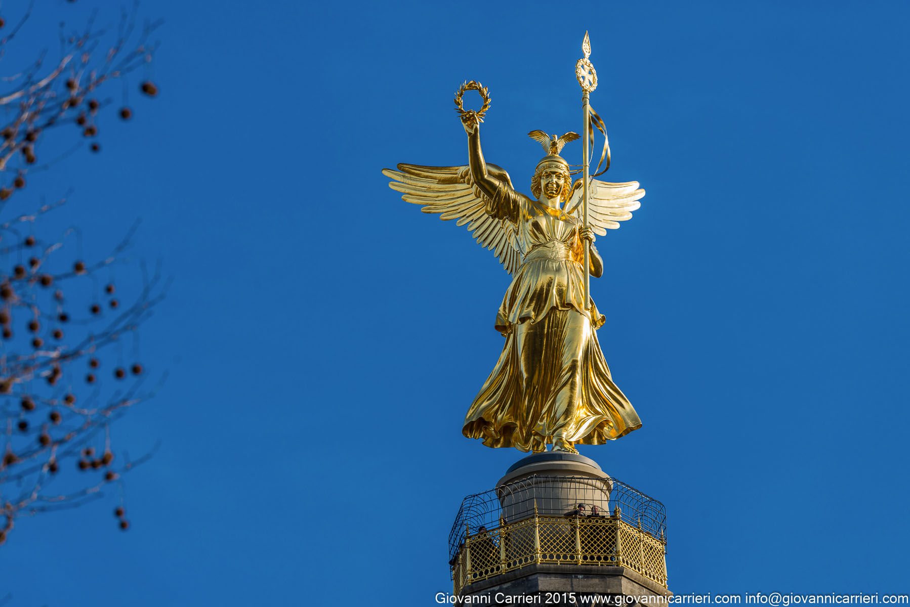 La statua della Vittoria, particolare della Colonna. Tiergarten