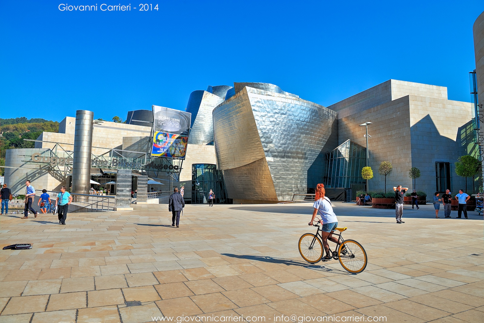 Front view of the Guggenheim Museum - Bilbao