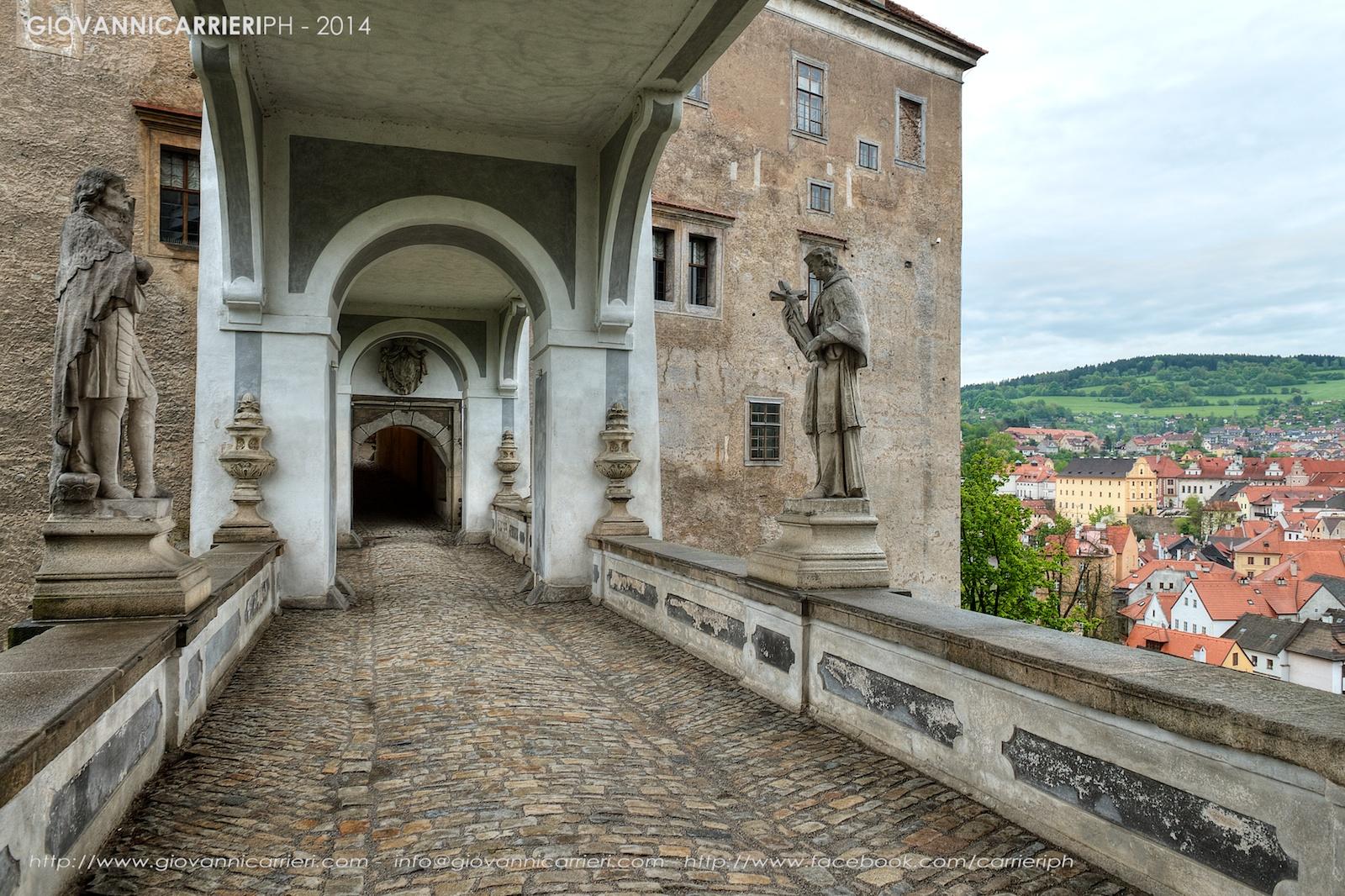 Il ponte del castello di Český Krumlov