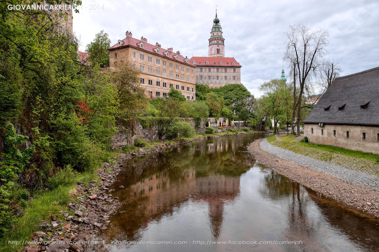 Český Krumlov ed il fiume Vltava