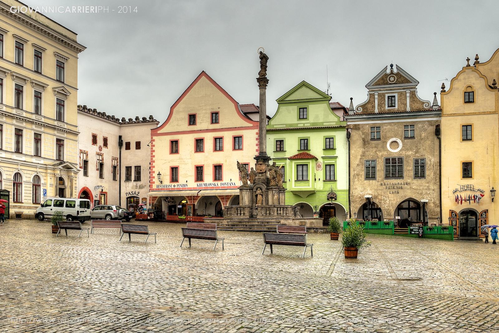 La piazza principale di Český Krumlov