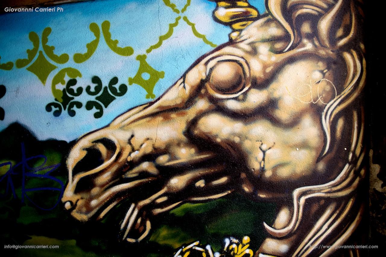 Grafiti of horse in Btistol
