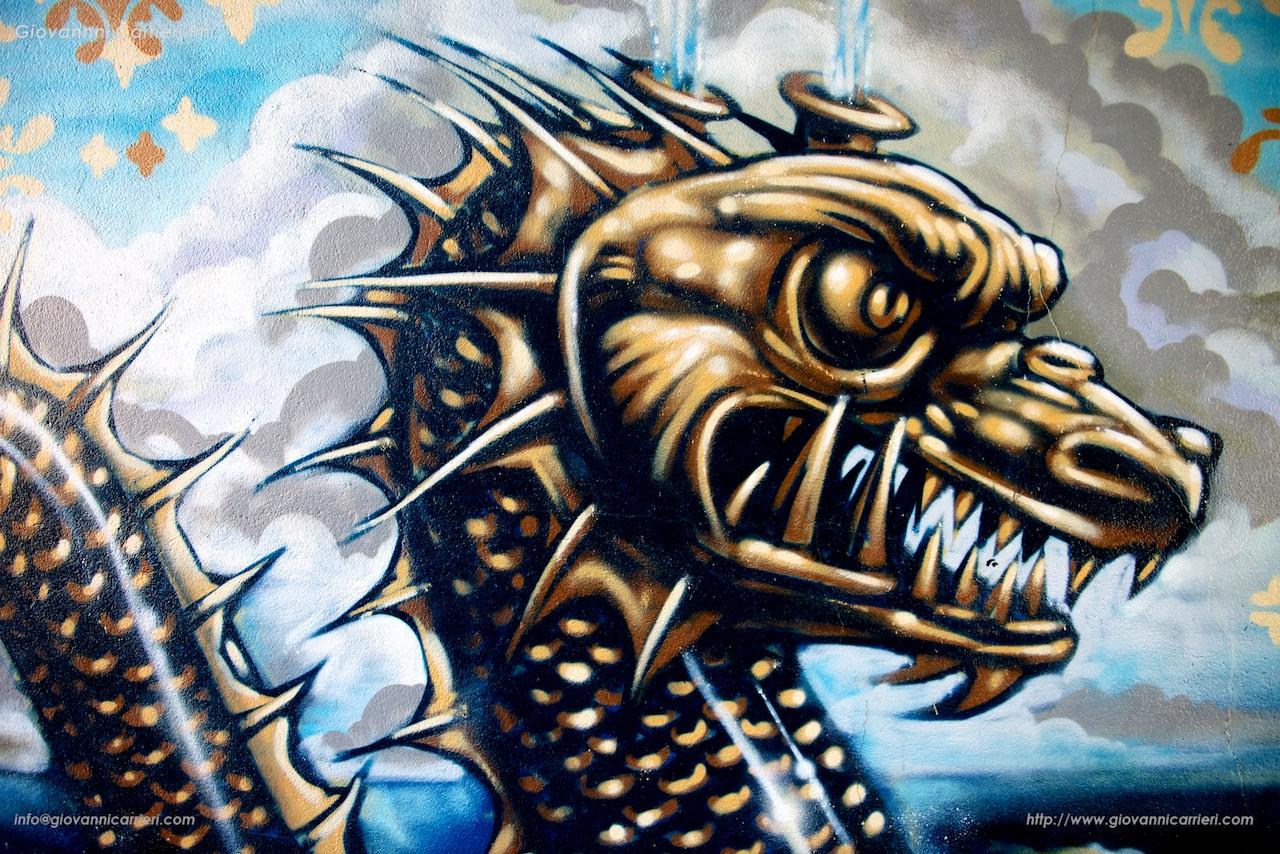Grafiti of Snake in Bristol