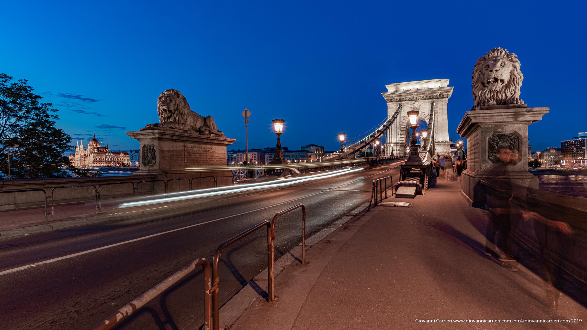 il ponte di catene Széchenyi Butapest Ungheria