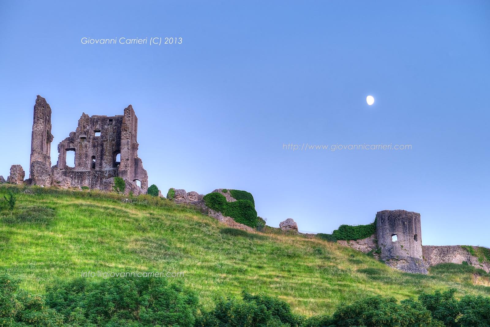 Le rovine del castello di Corfe