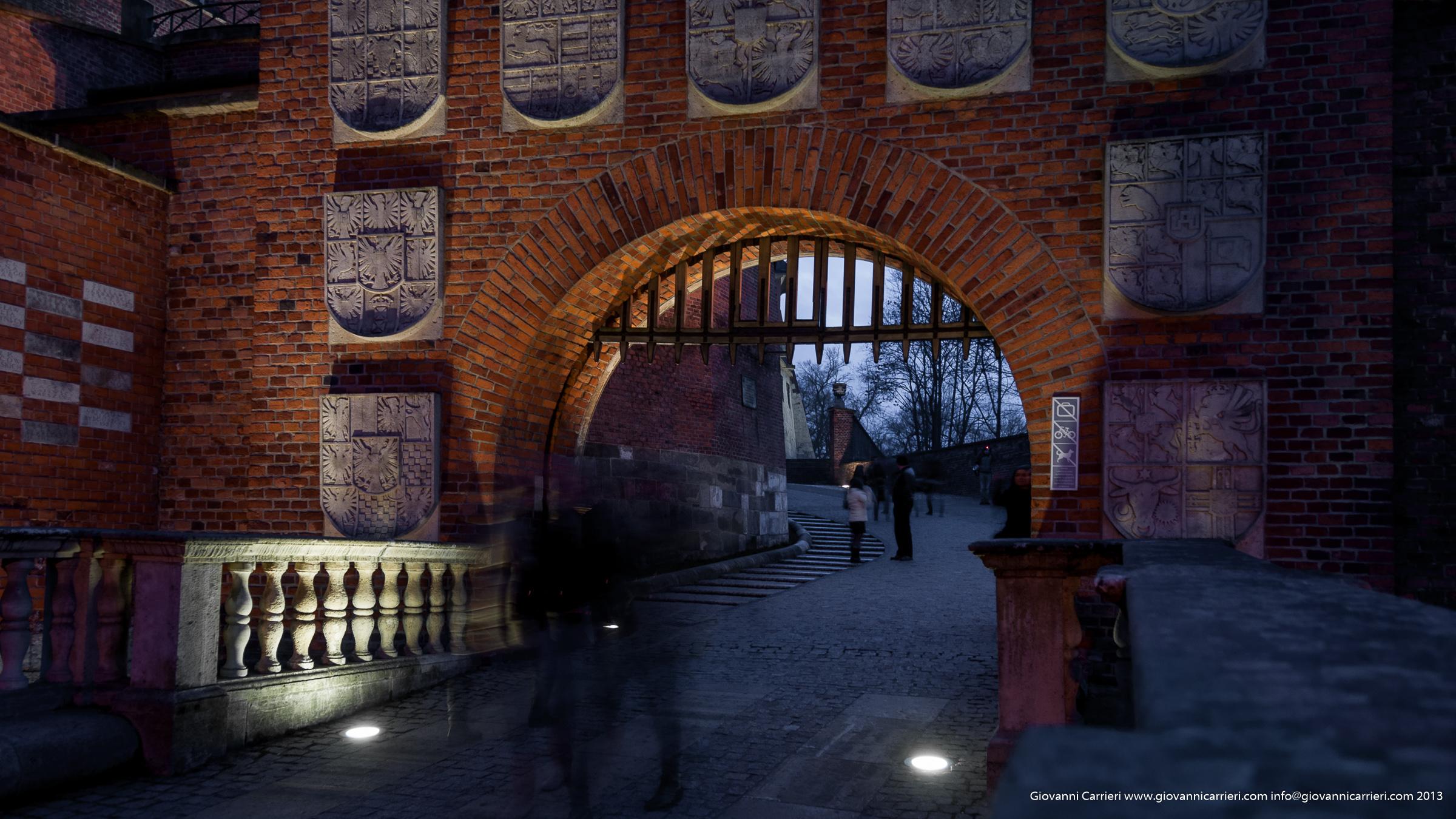 Il castello di Cracovia, il varco di ingresso