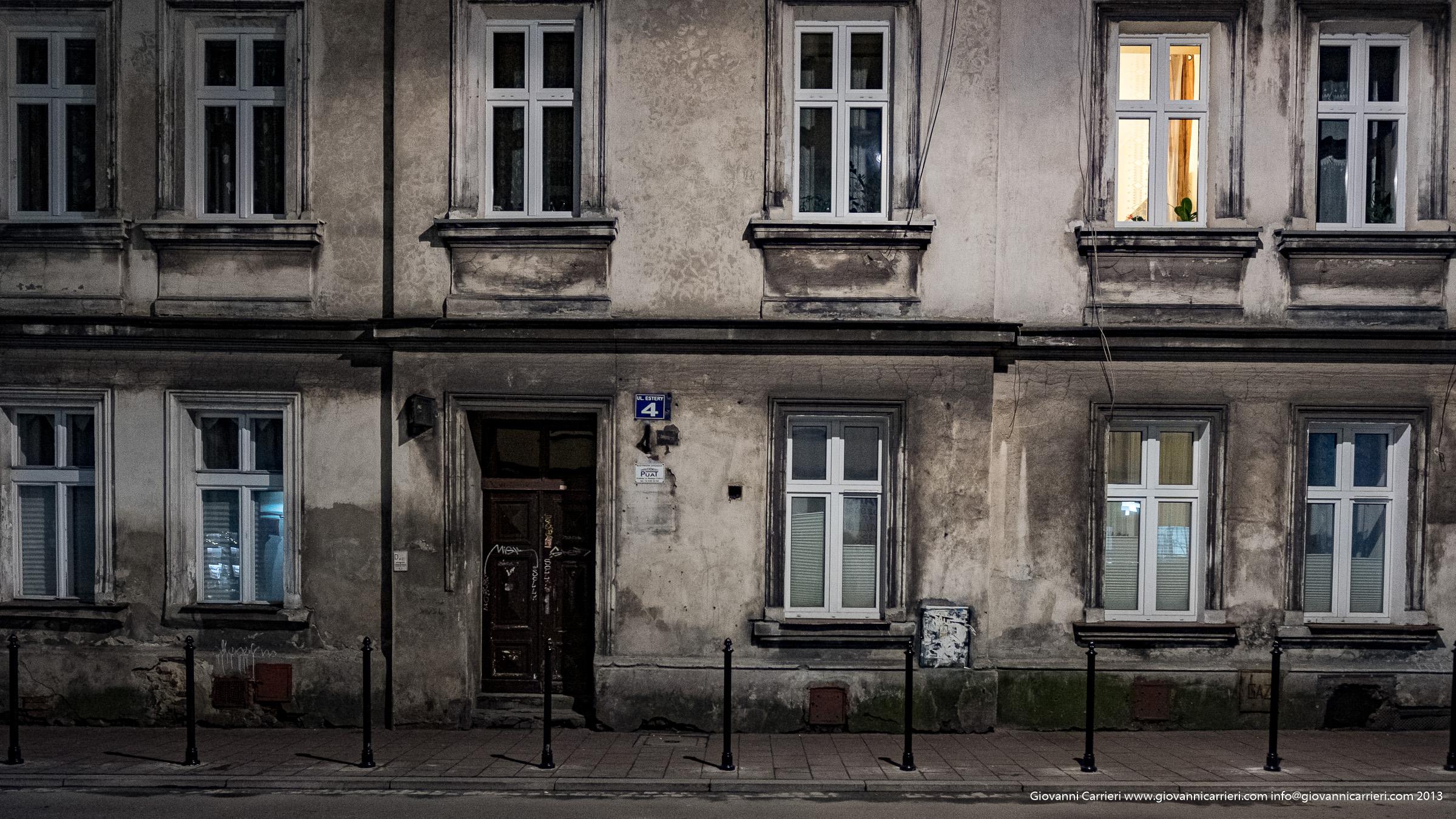 I palazzi del quartiere ebraico Kazimierz