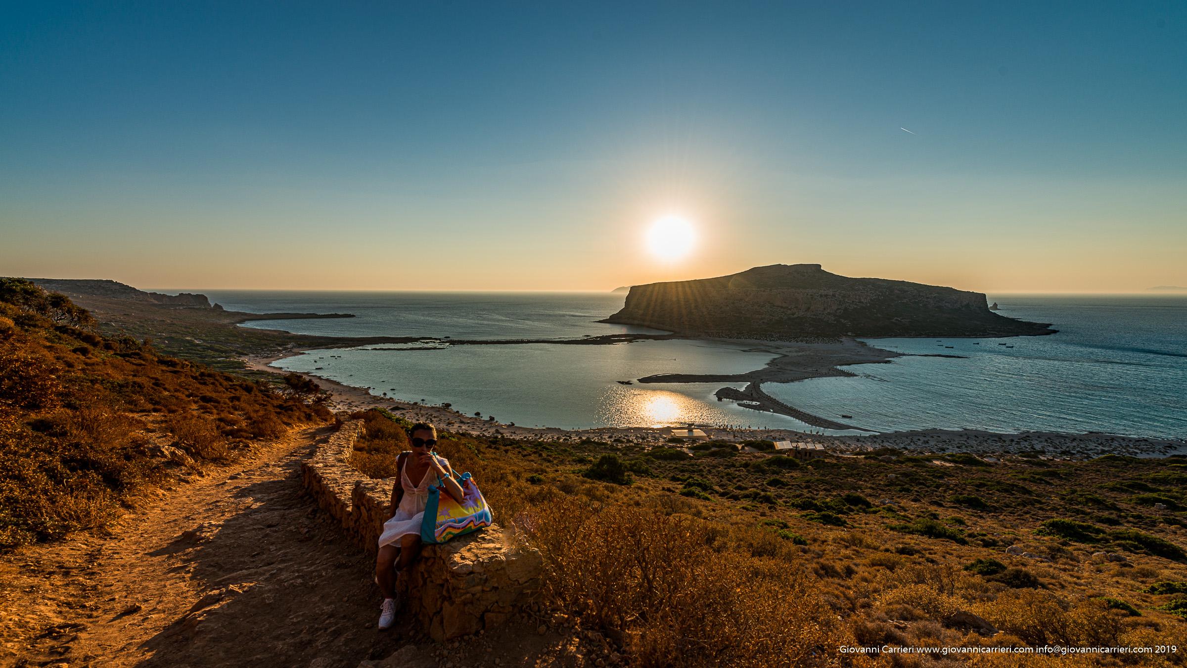 Il tramonto sulla laguna di Balos, Creta - Grecia