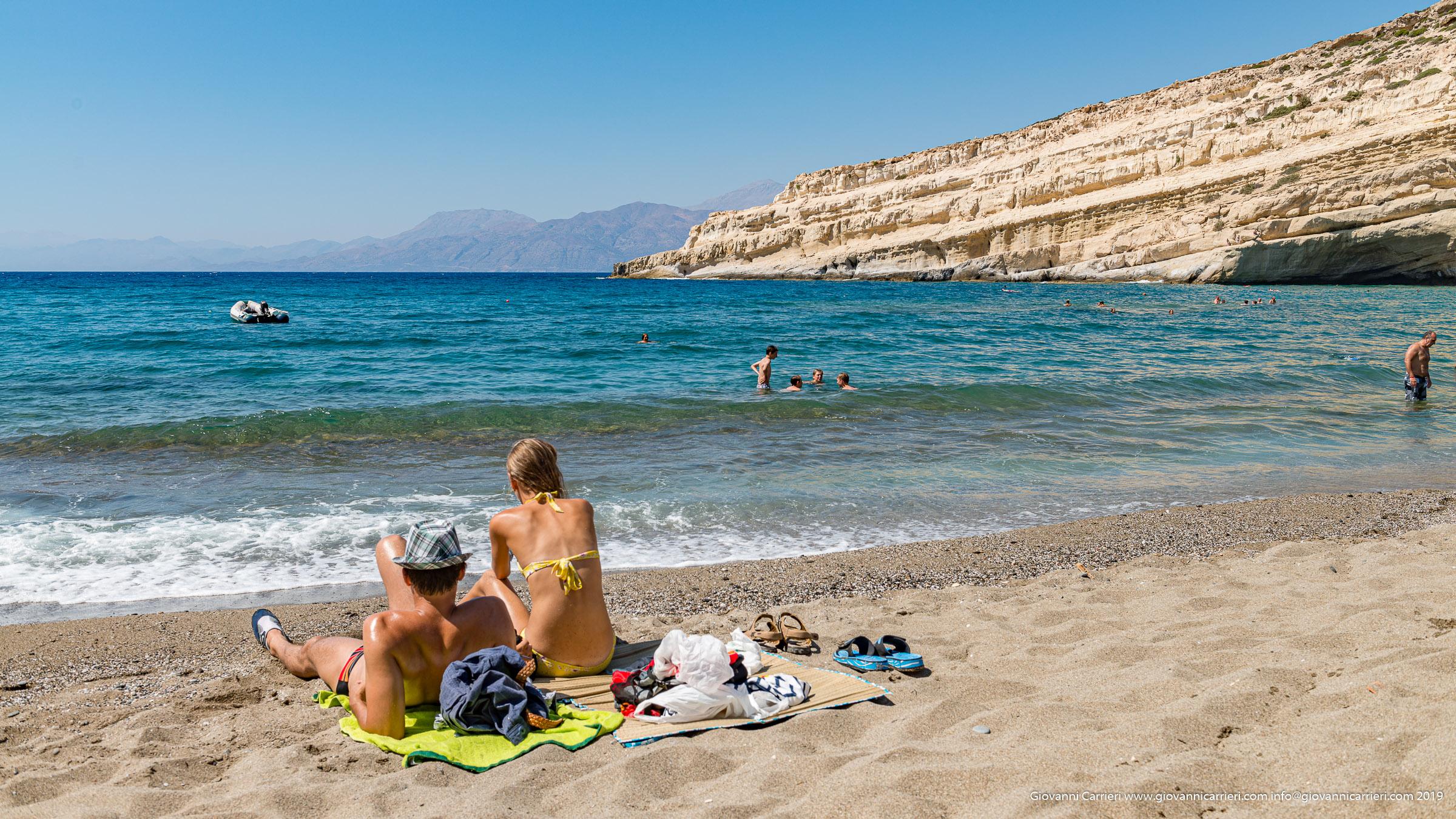 La spiaggia di Matala