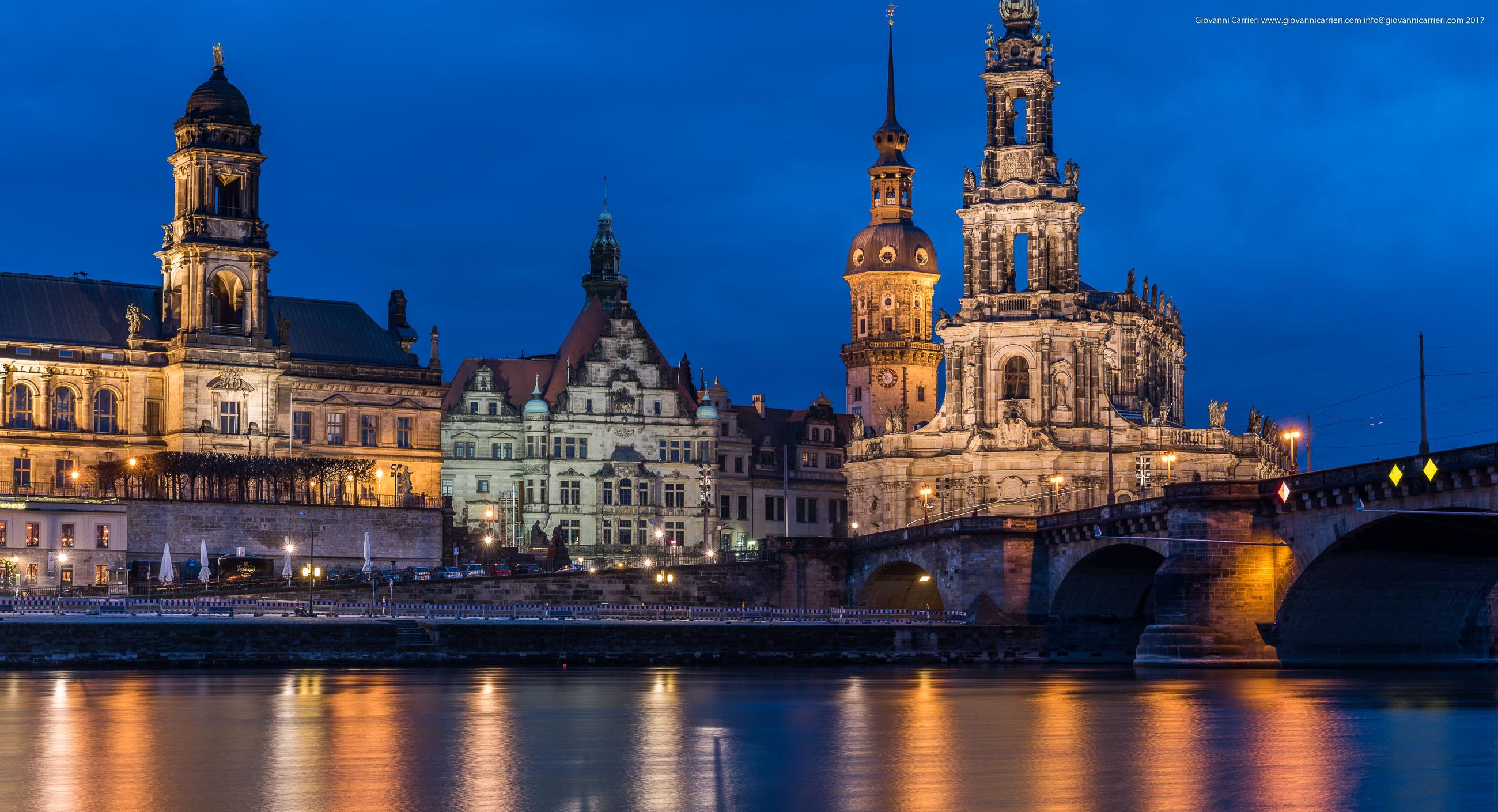 La vista iconica di Dresda