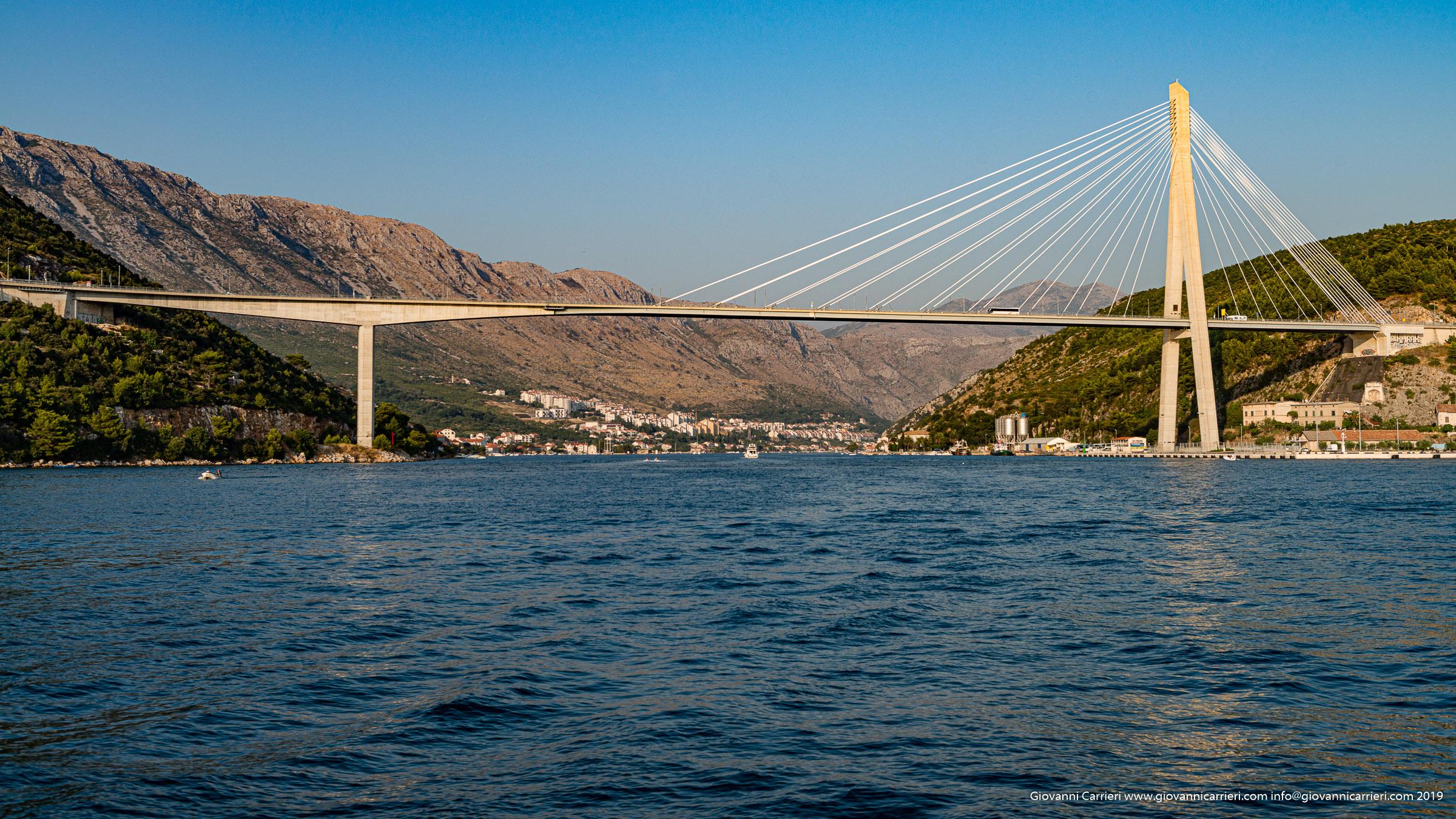 Il ponte Franco Tudjman dal mare - Dubrovnik